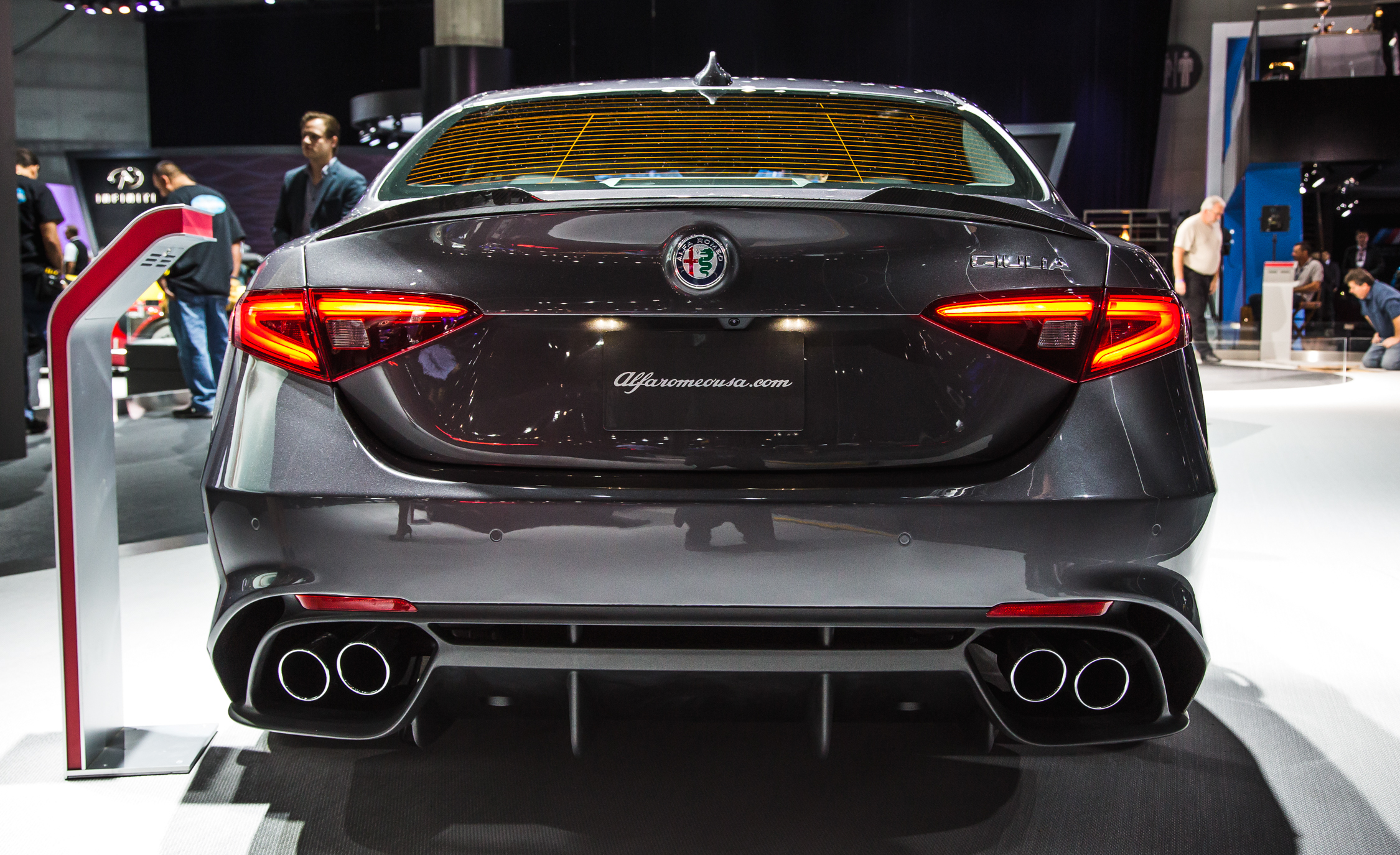 2017 Alfa Romeo Giulia Quadrifoglio Rear End Exterior (Photo 24 of 29)