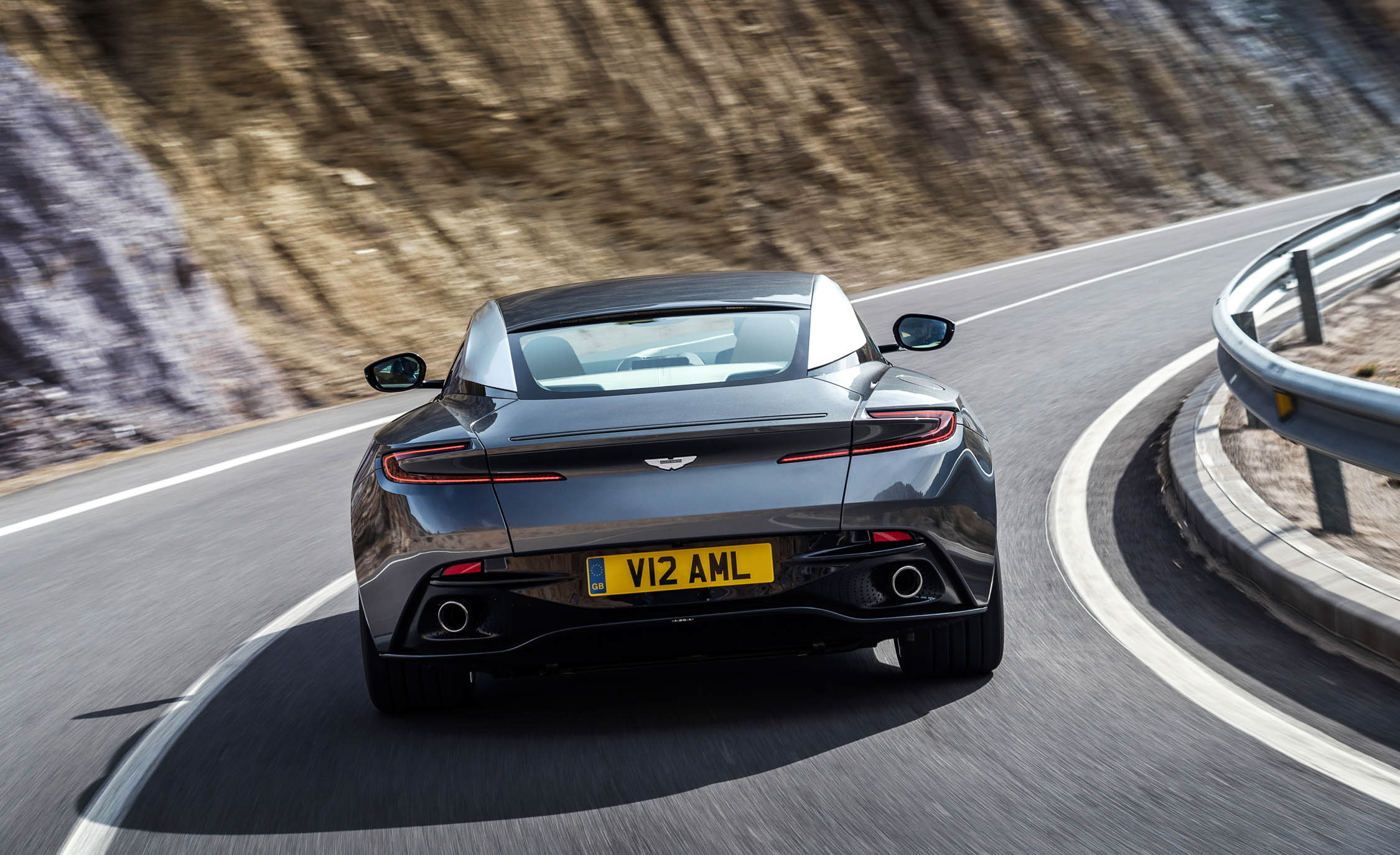 2017 Aston Martin Db11 Test Drive Rear End (Photo 17 of 22)