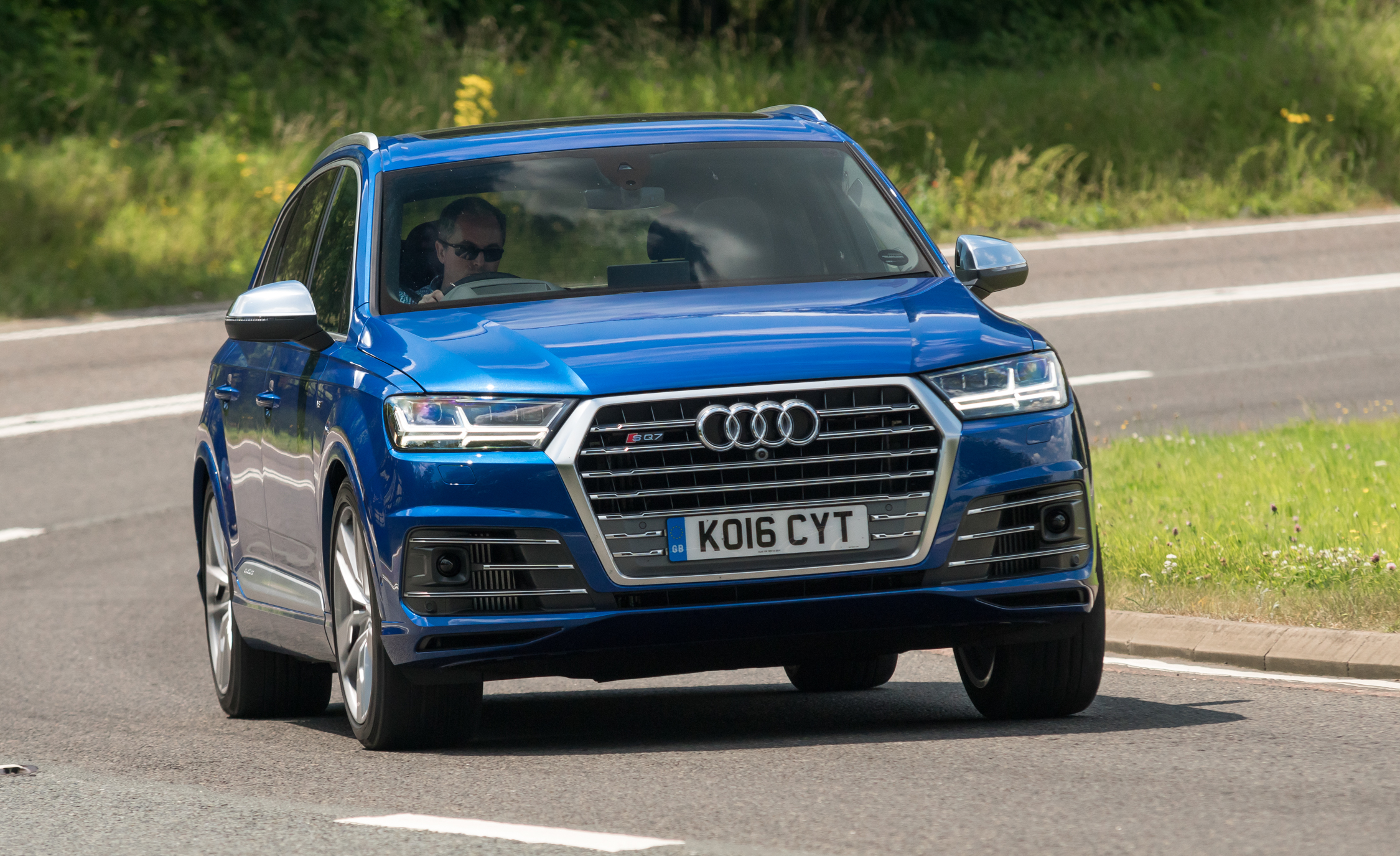 2017 Audi Sq7 Test Drive Front View (View 12 of 15)