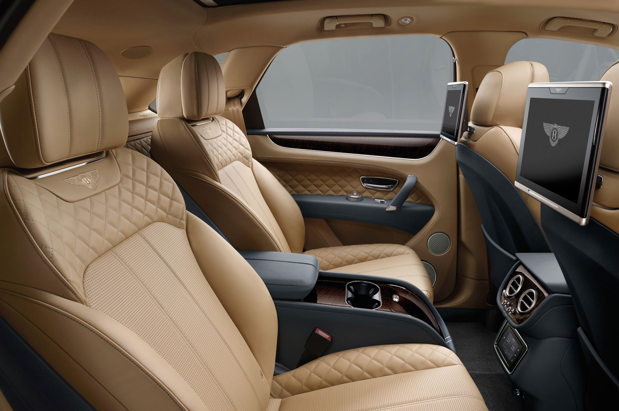 2017 Bentley Bentayga Rear Seats Interior (Photo 11 of 16)