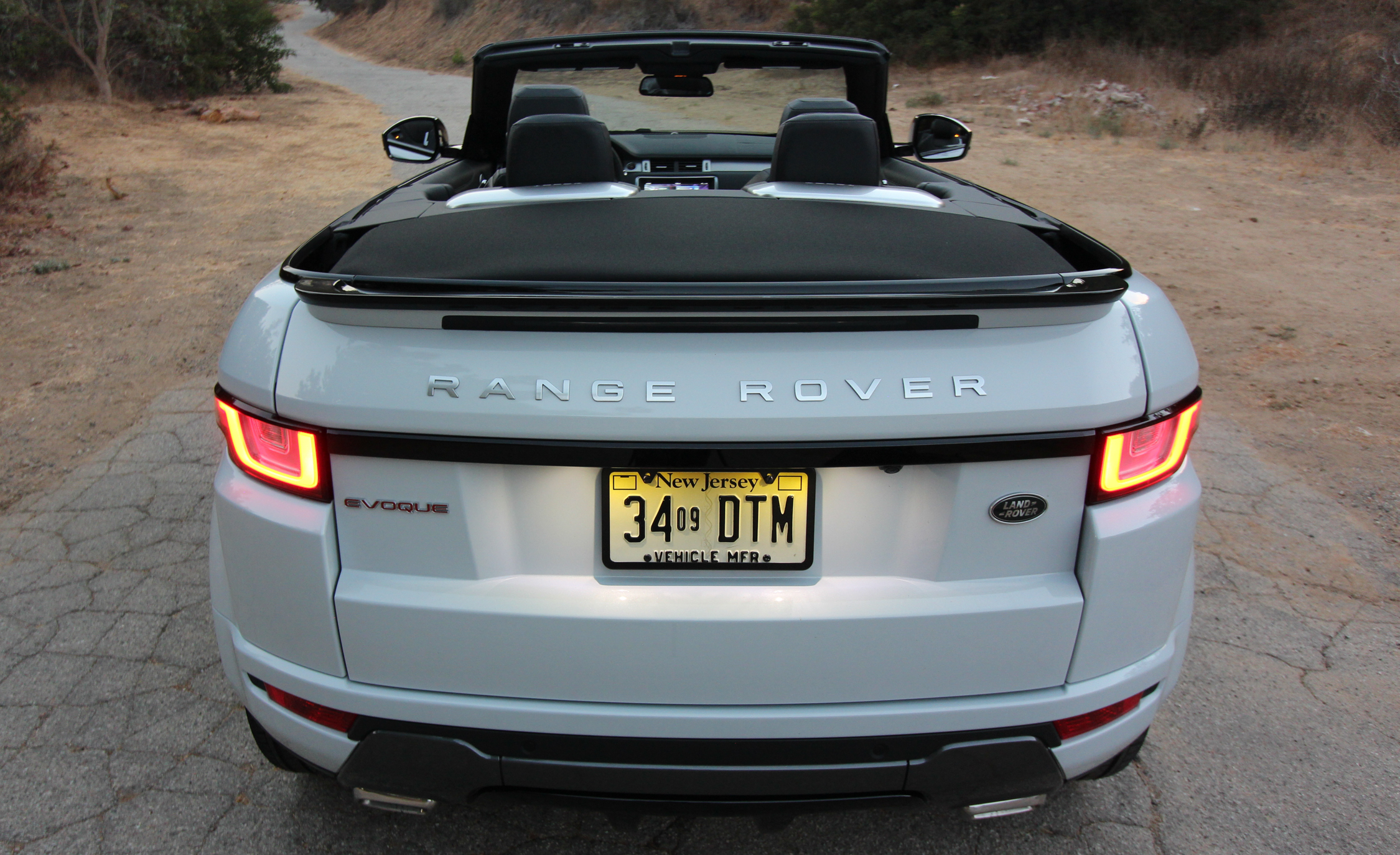 2017 Land Rover Range Rover Evoque Convertible Exterior Open Roof Rear End (Photo 7 of 14)