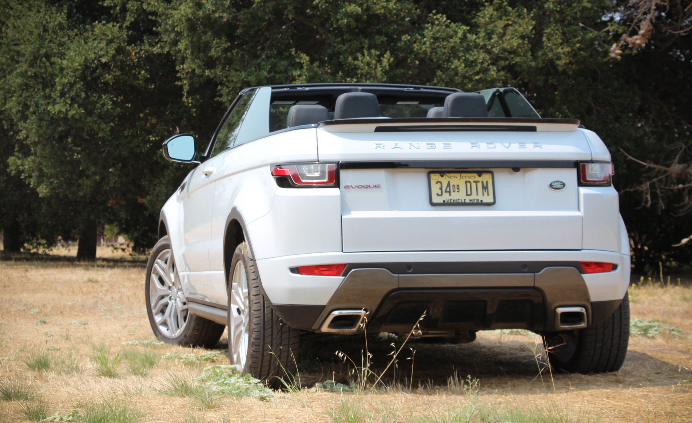 2017 Land Rover Range Rover Evoque Convertible Exterior Open Roof Rear Side (Photo 8 of 14)