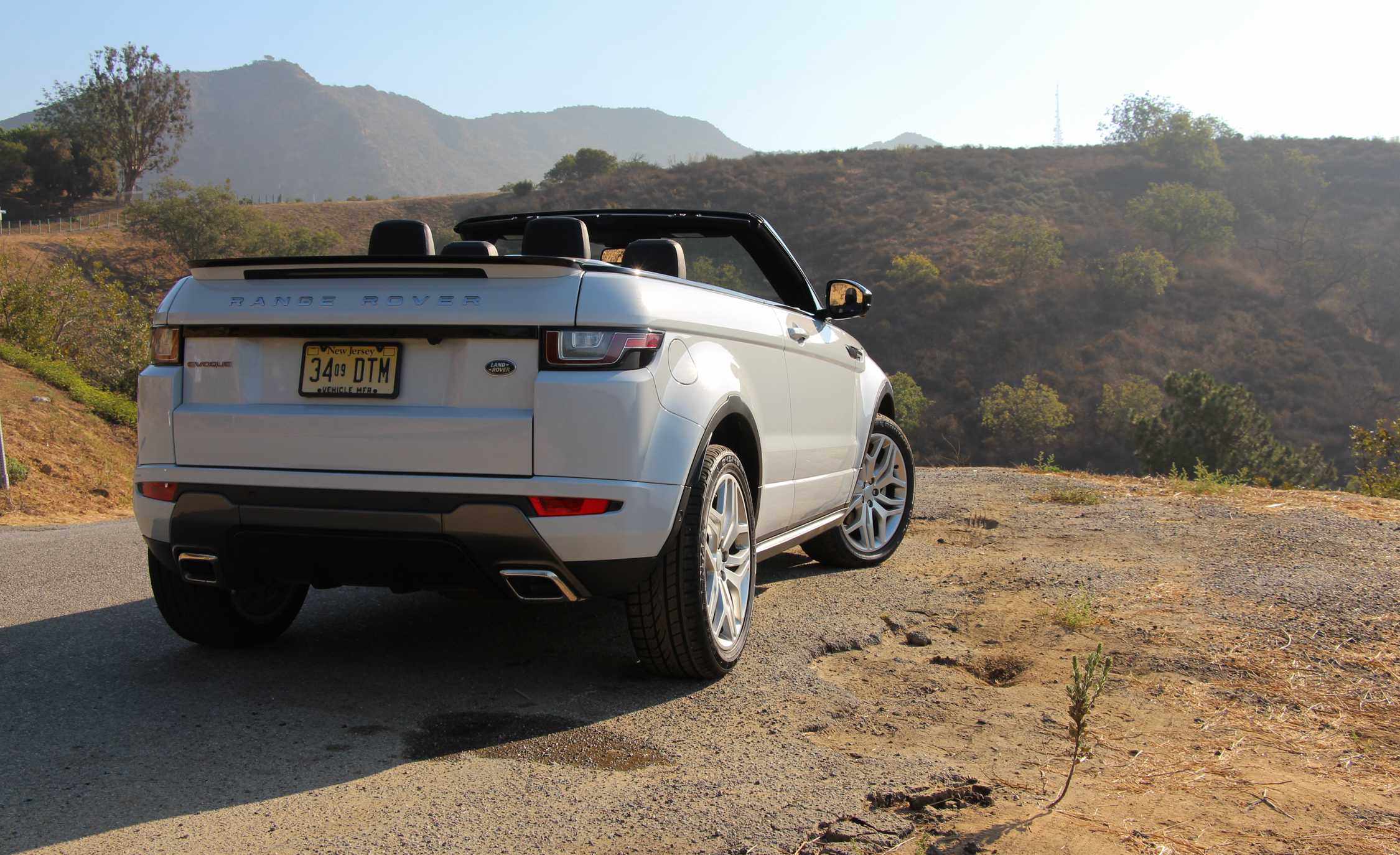 2017 Land Rover Range Rover Evoque Convertible Exterior Open Roof Rear (Photo 6 of 14)