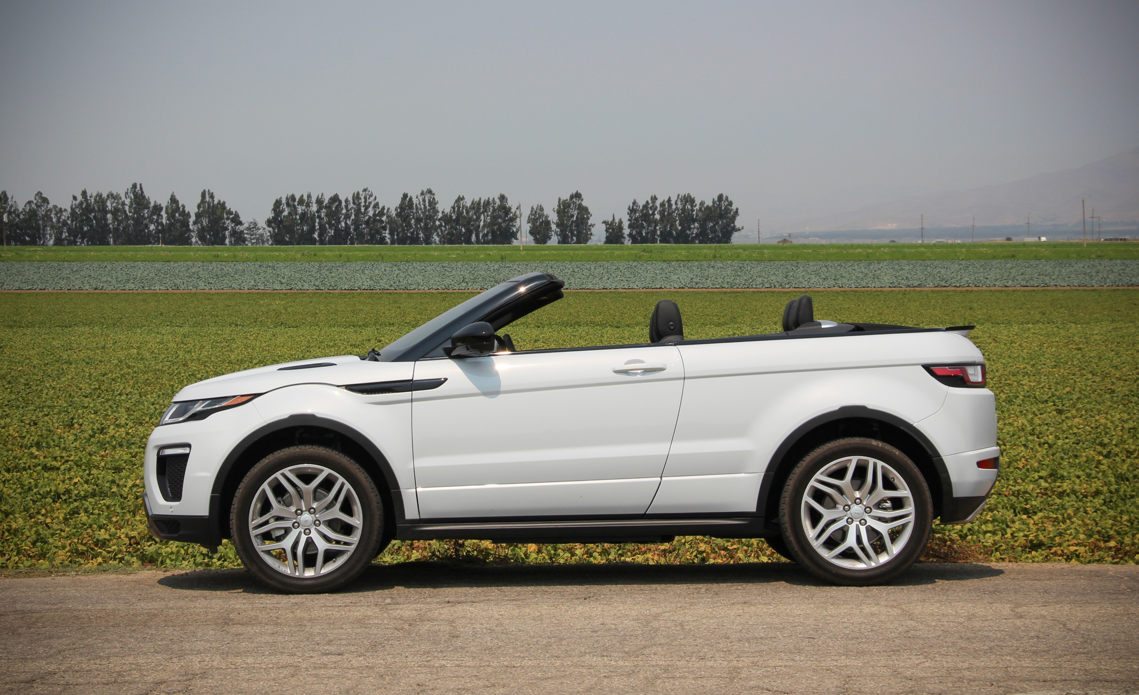 2017 Land Rover Range Rover Evoque Convertible Exterior Open Roof Side (Photo 9 of 14)