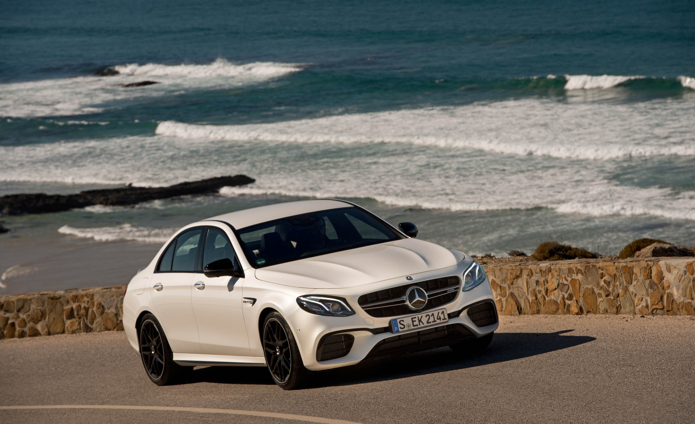 2018 Mercedes AMG E63 Test Drive Front View (Photo 32 of 41)
