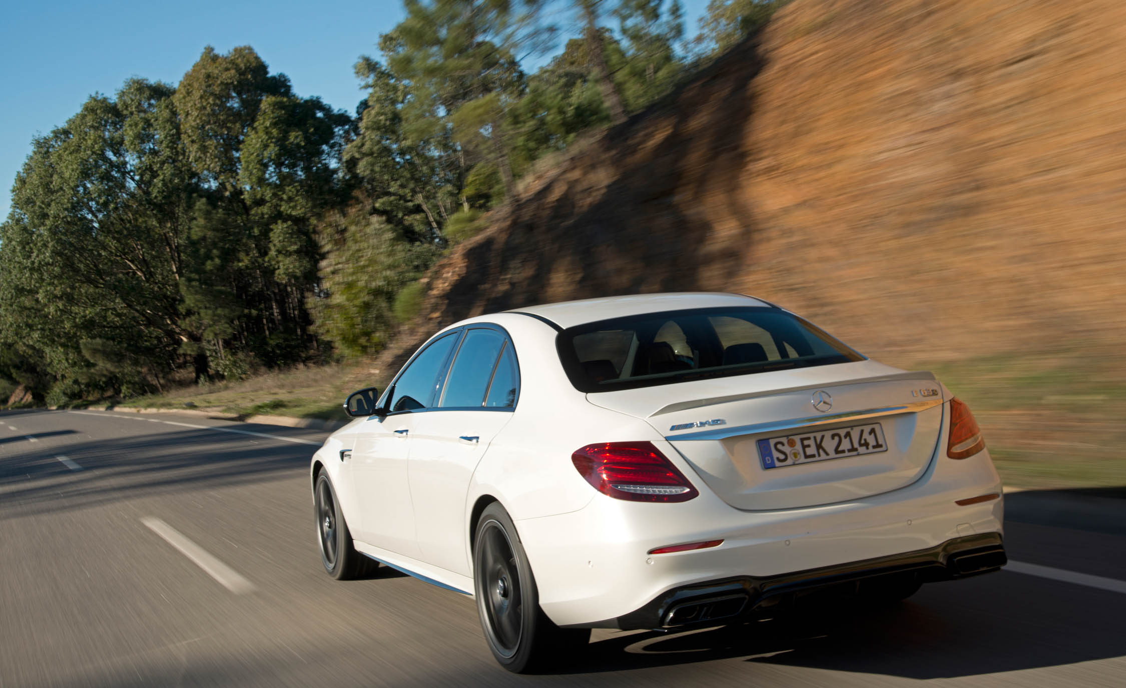 2018 Mercedes AMG E63 Test Drive Rear View (Photo 33 of 41)