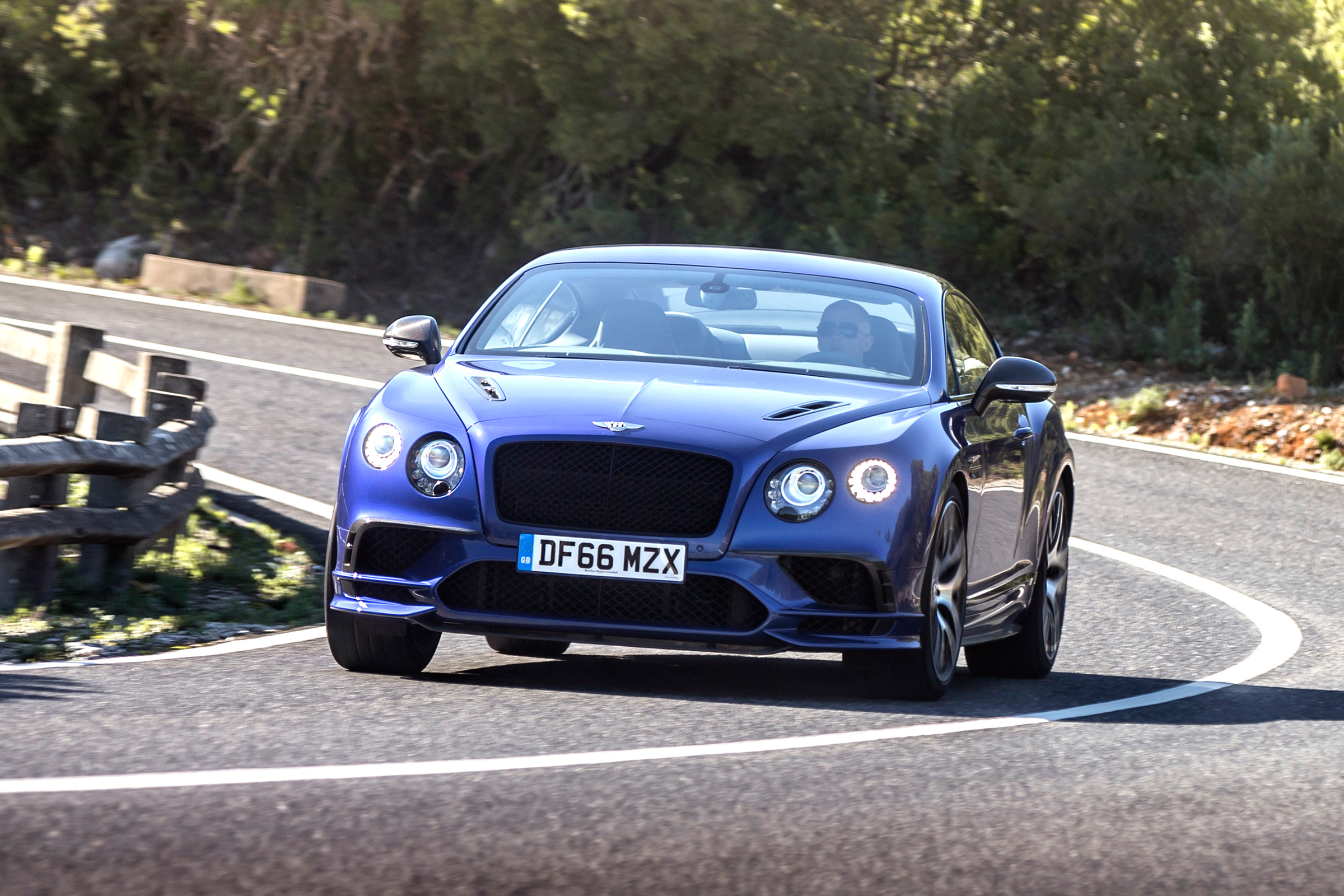 2017 Bentley Continental Supersports Blue Test Drive Front View (Photo 20 of 31)
