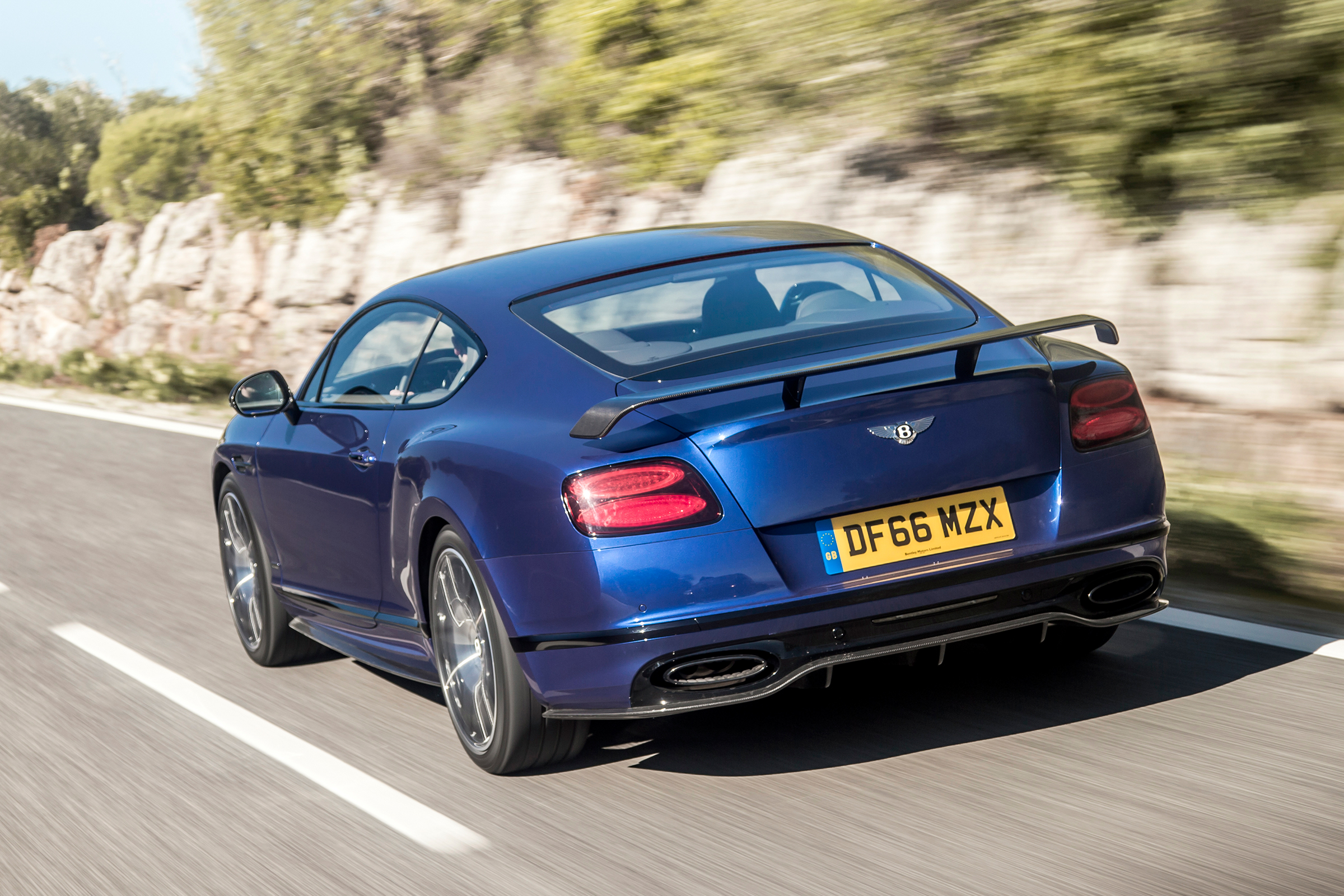 2017 Bentley Continental Supersports Blue Test Drive Rear And Side View (Photo 21 of 31)