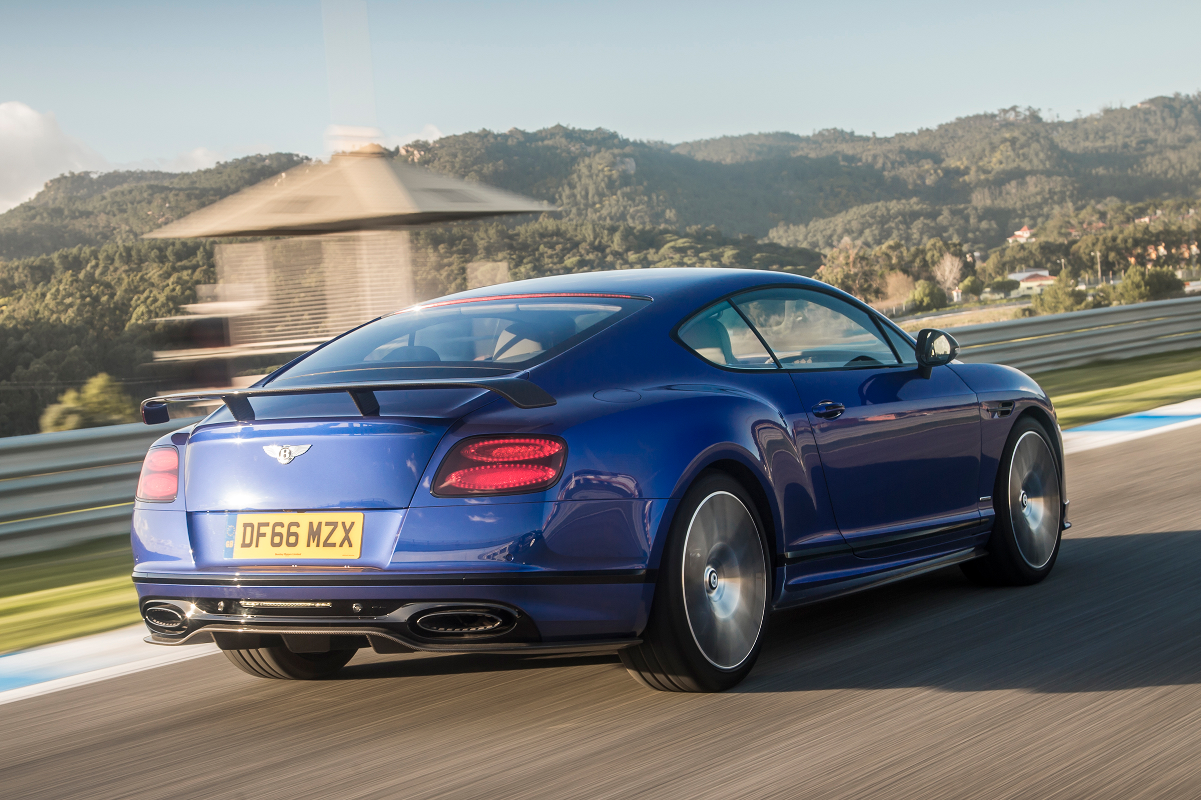 2017 Bentley Continental Supersports Blue Test Drive Rear View (Photo 22 of 31)