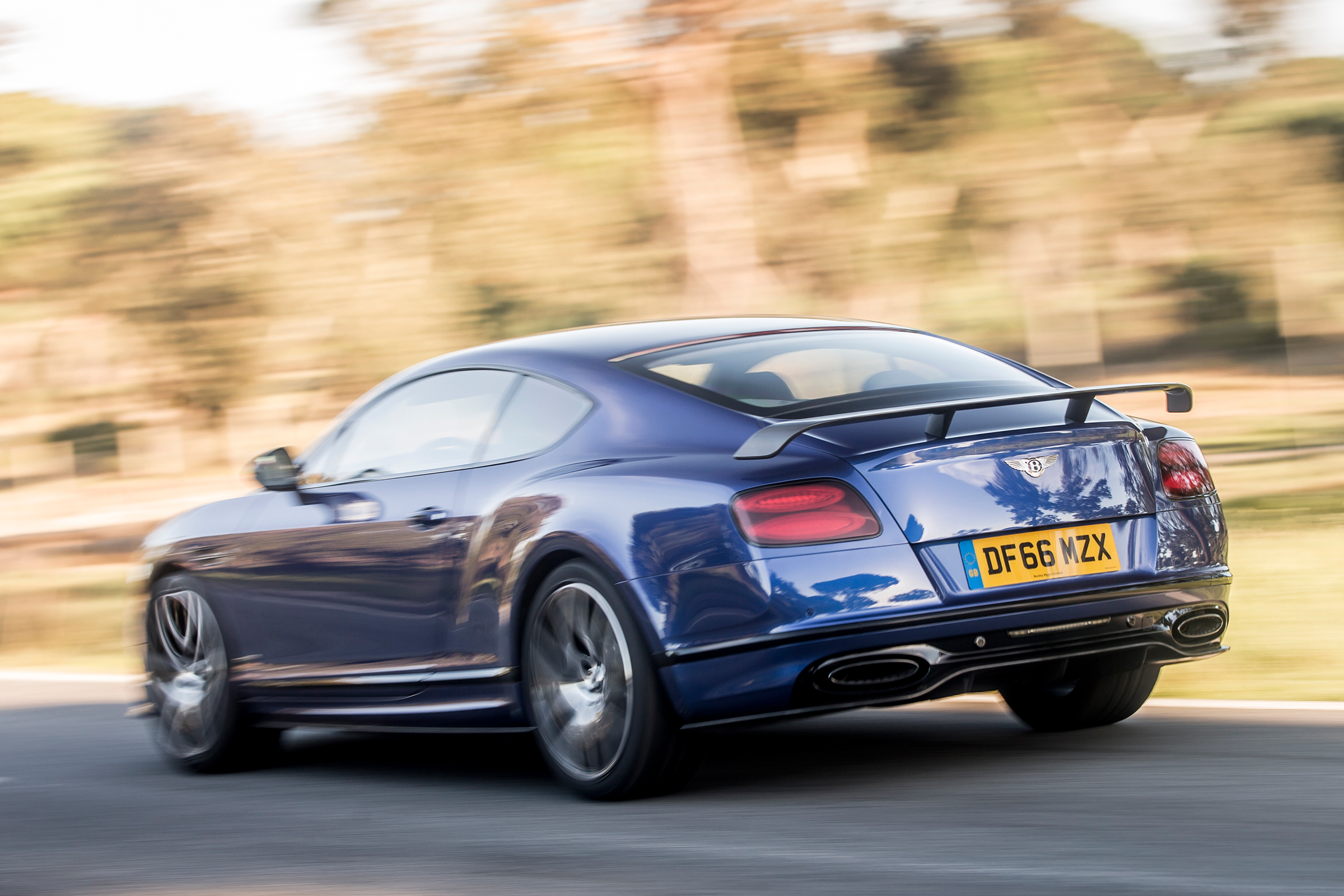 2017 Bentley Continental Supersports Blue Test Drive Side And Rear View (Photo 23 of 31)