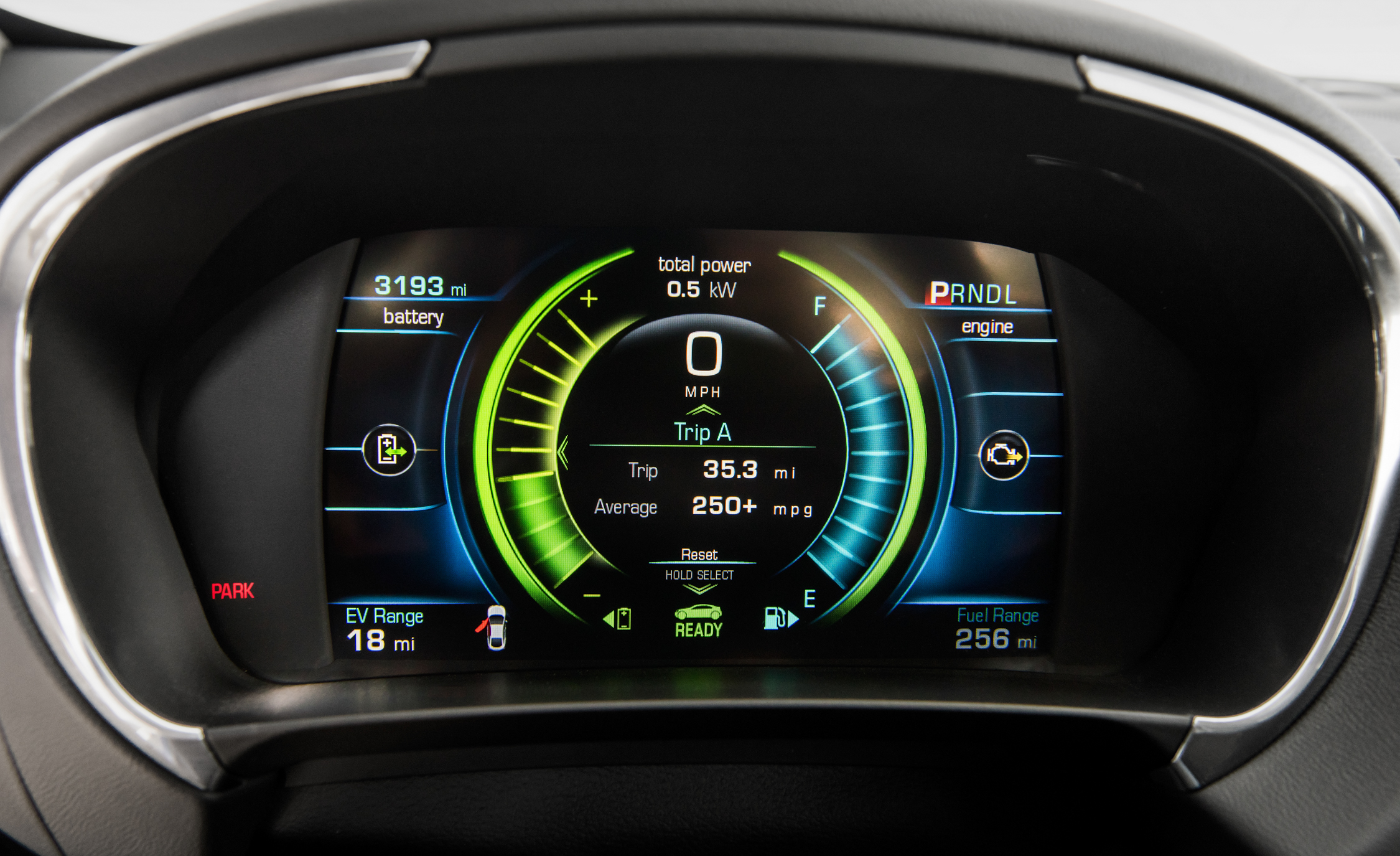 2017 Chevrolet Volt Interior Speedometer And Instrument Cluster (Photo 11 of 16)