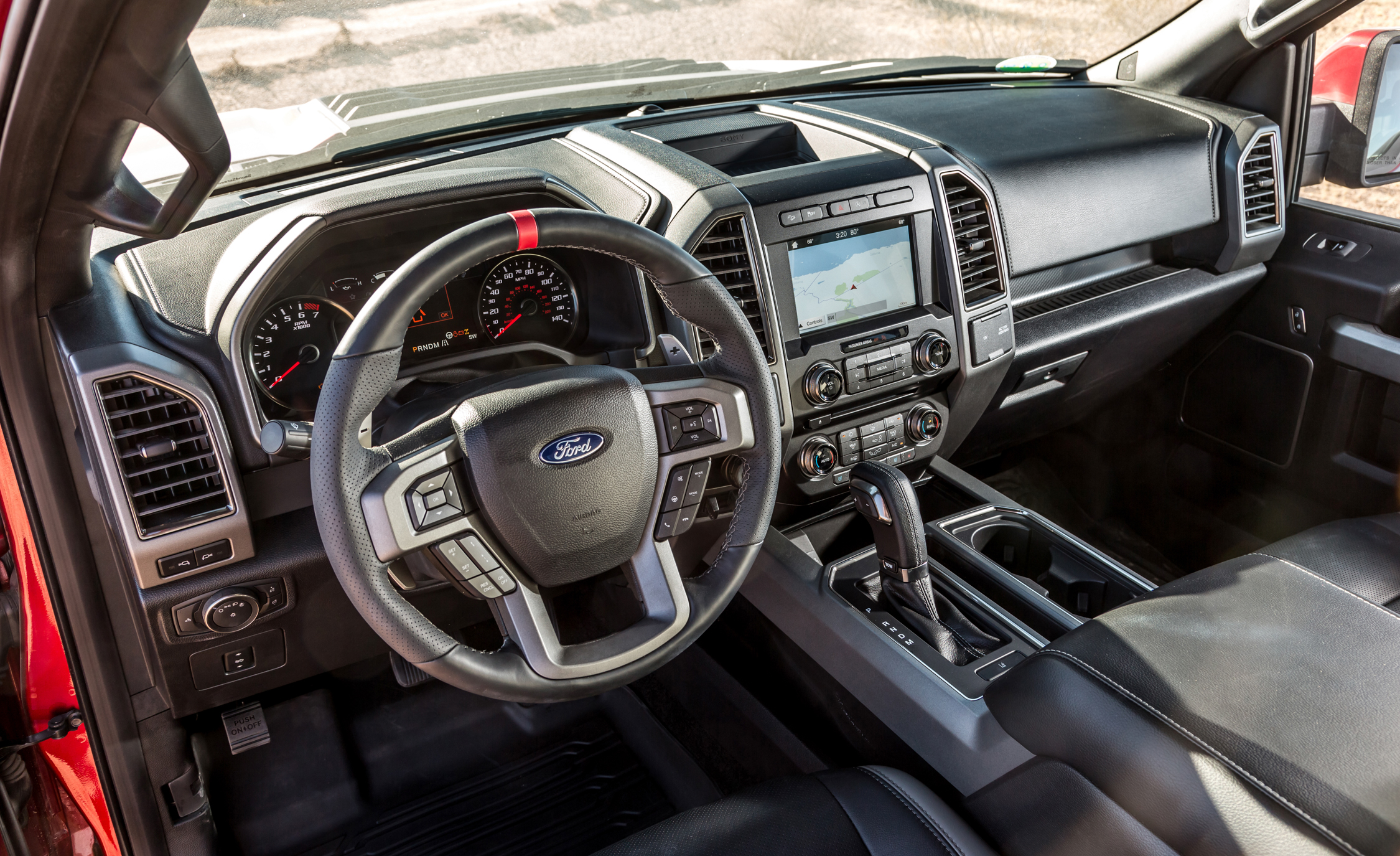 2017 Ford F 150 Raptor SuperCab Interior View Steering And Dash (View 41 of 47)