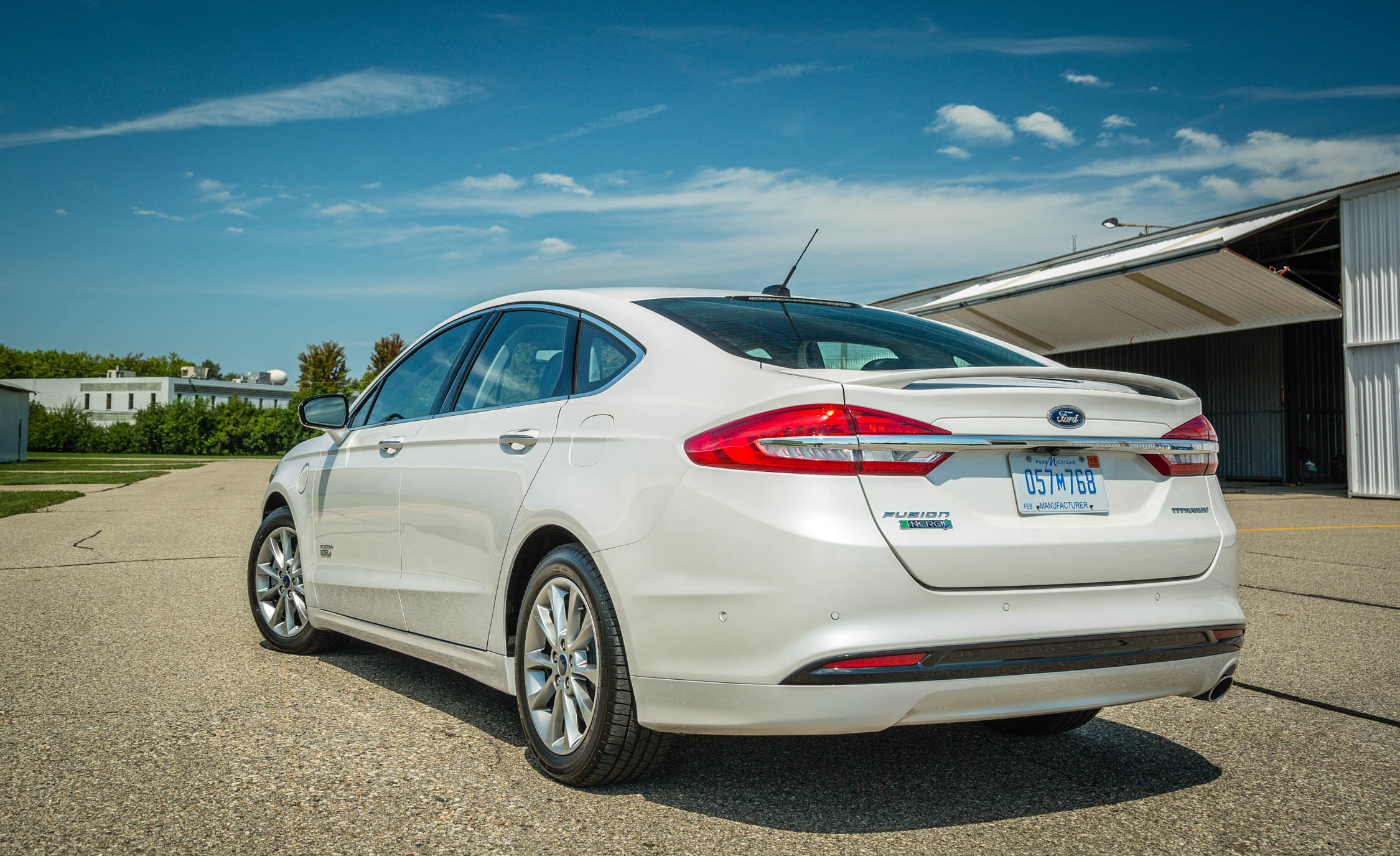 2017 Ford Fusion Energi Titanium Exterior Rear And Side (Photo 11 of 19)