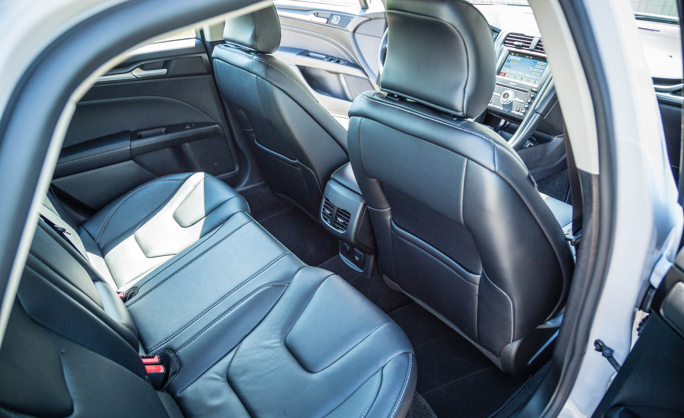 2017 Ford Fusion Energi Titanium Interior Seats Rear (Photo 17 of 19)
