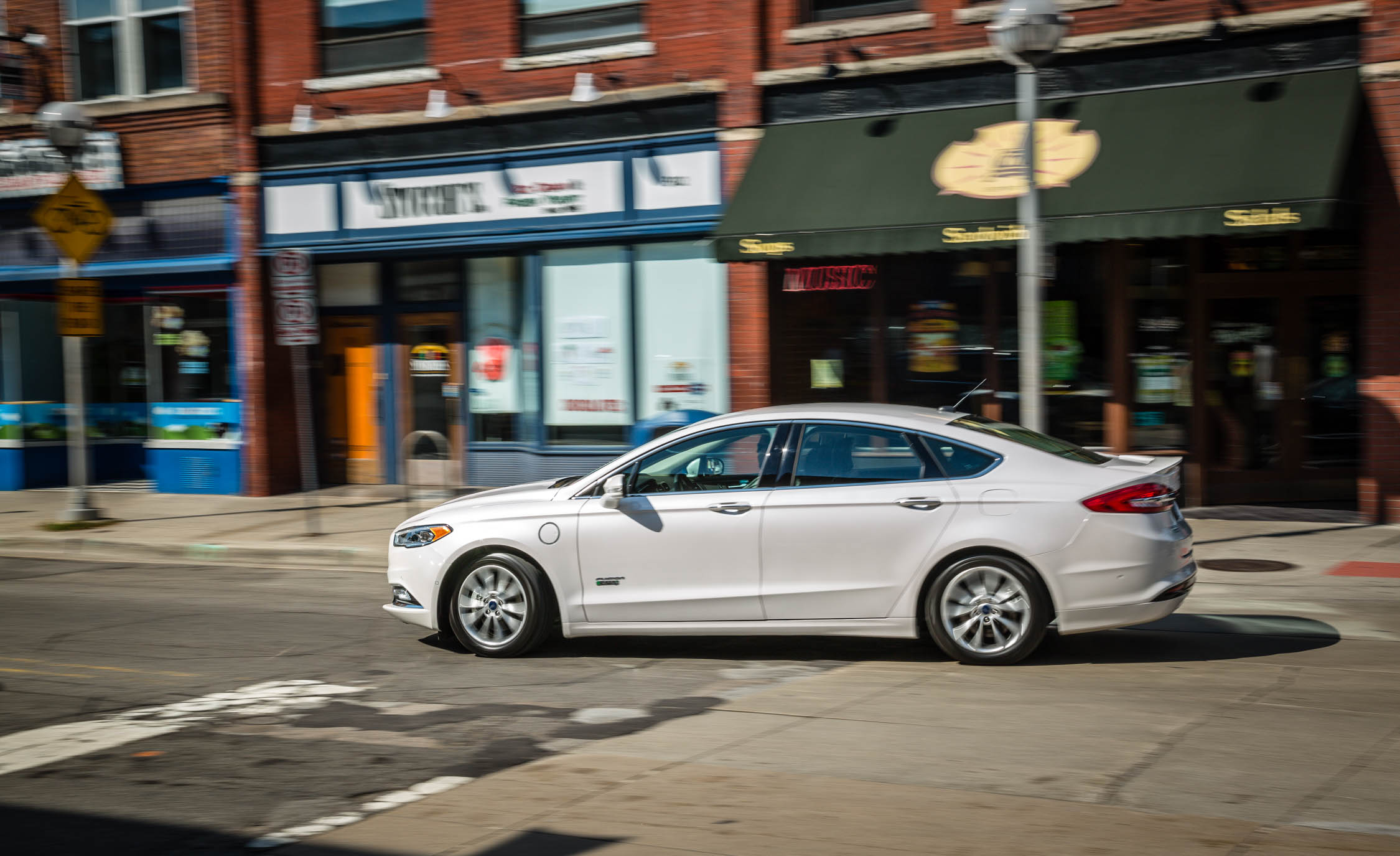 2017 Ford Fusion Energi Test Drive Side View (Photo 5 of 19)