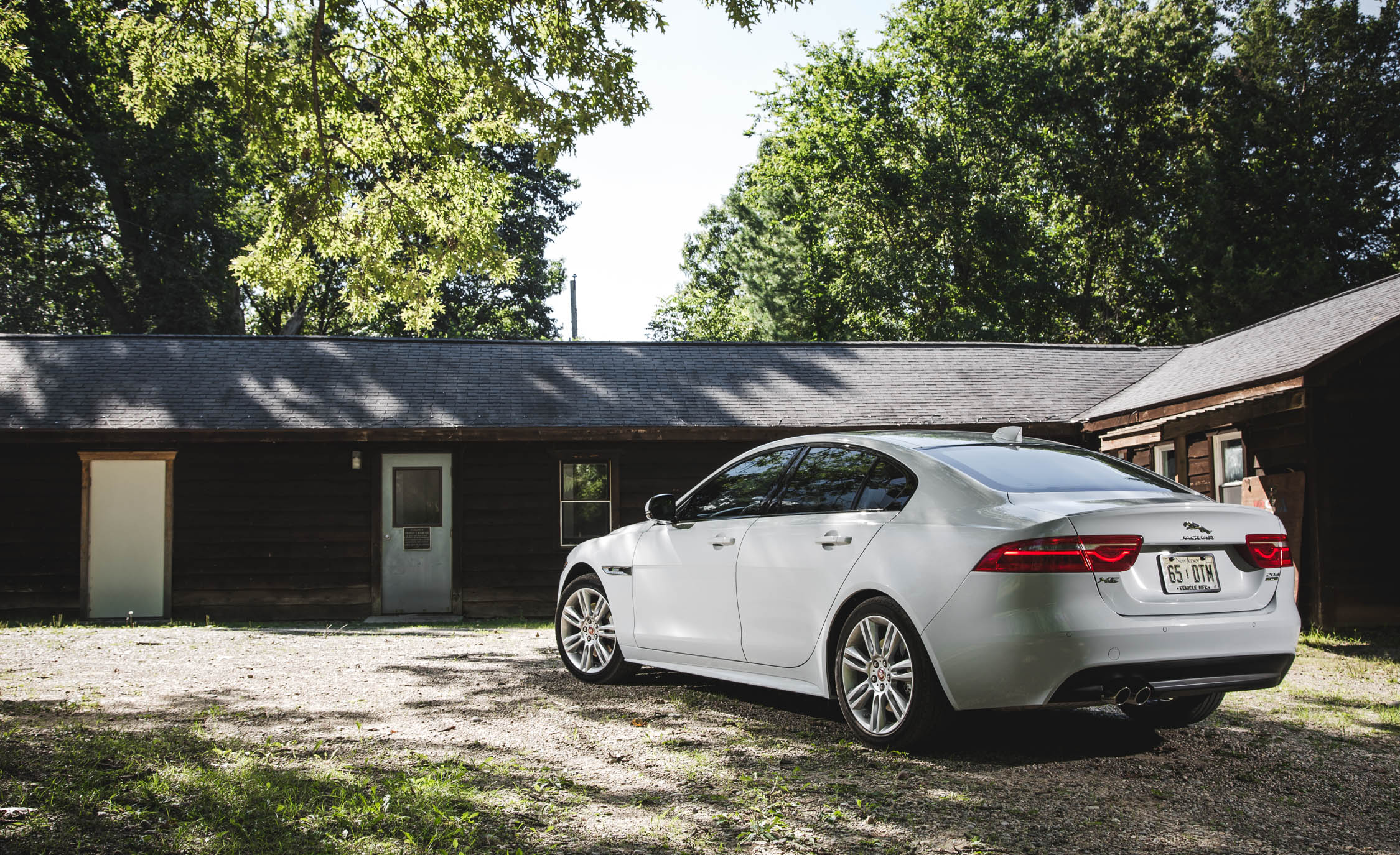 2017 Jaguar Xe White Exterior Rear And Side View (View 9 of 32)