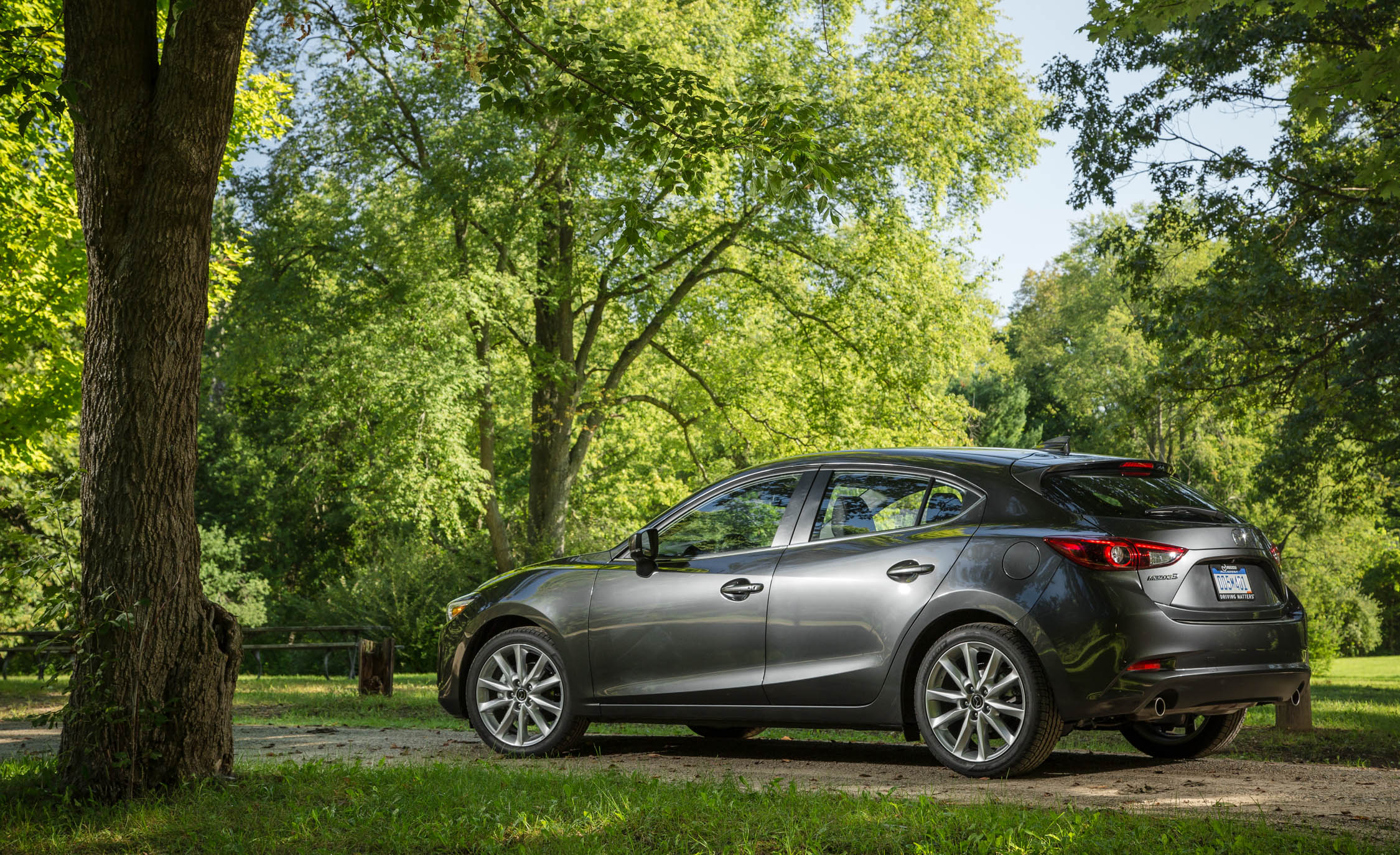 2017 Mazda3 Hatchback Exterior Side And Rear View (Photo 28 of 40)