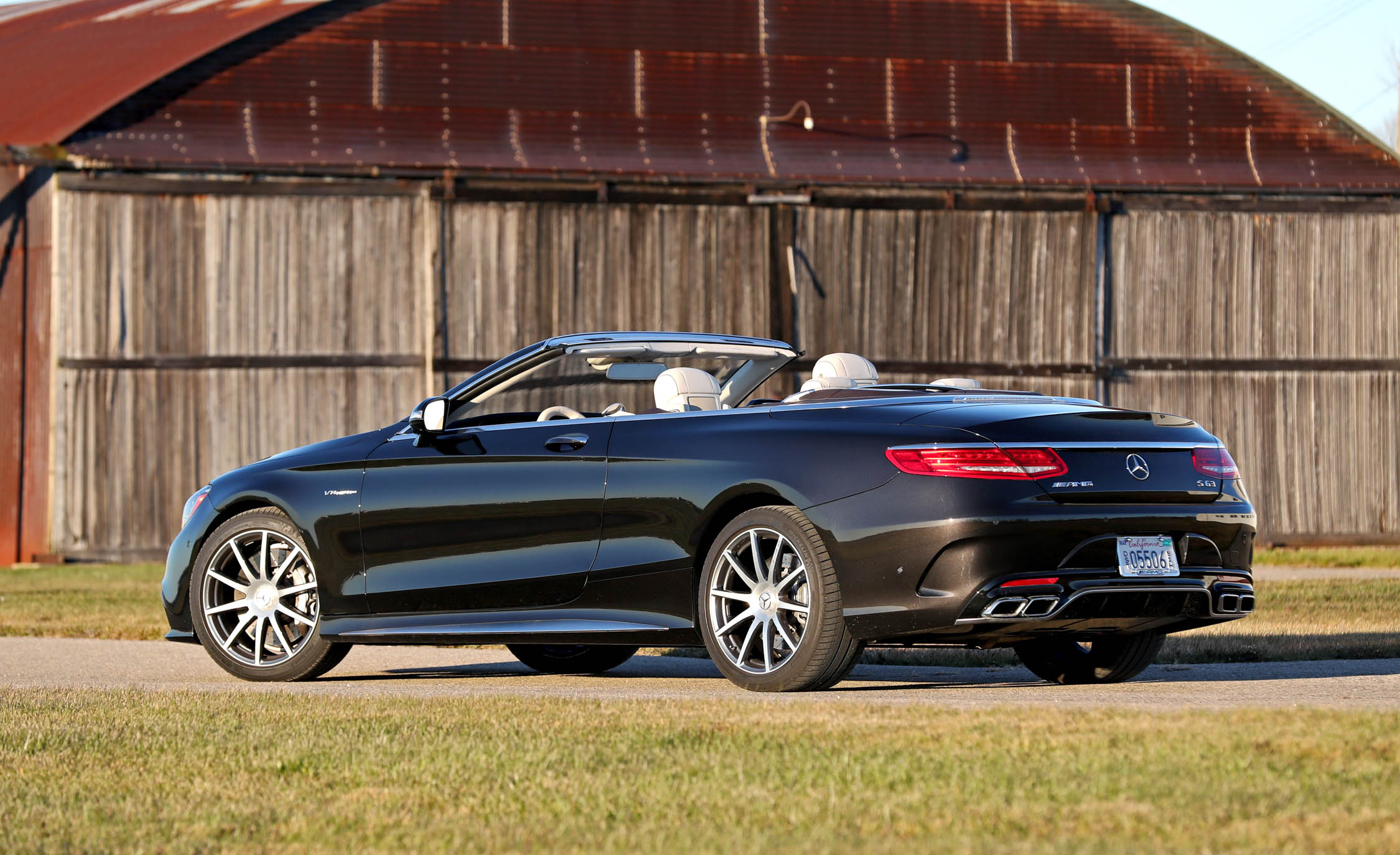 2017 Mercedes Amg S63 Cabriolet Exterior Rear And Side Roof Open (Photo 8 of 38)