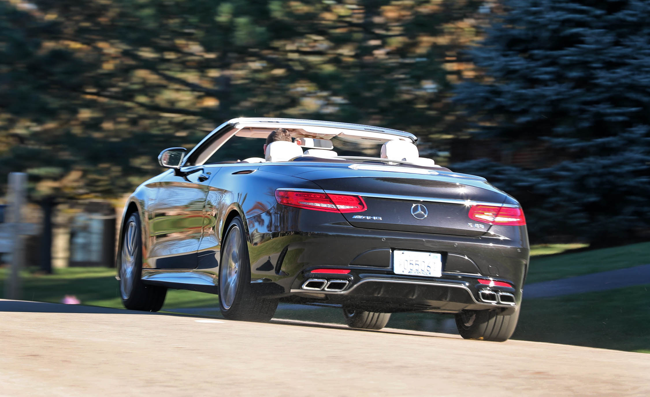 2017 Mercedes Amg S63 Cabriolet Test Drive Rear View (Photo 33 of 38)