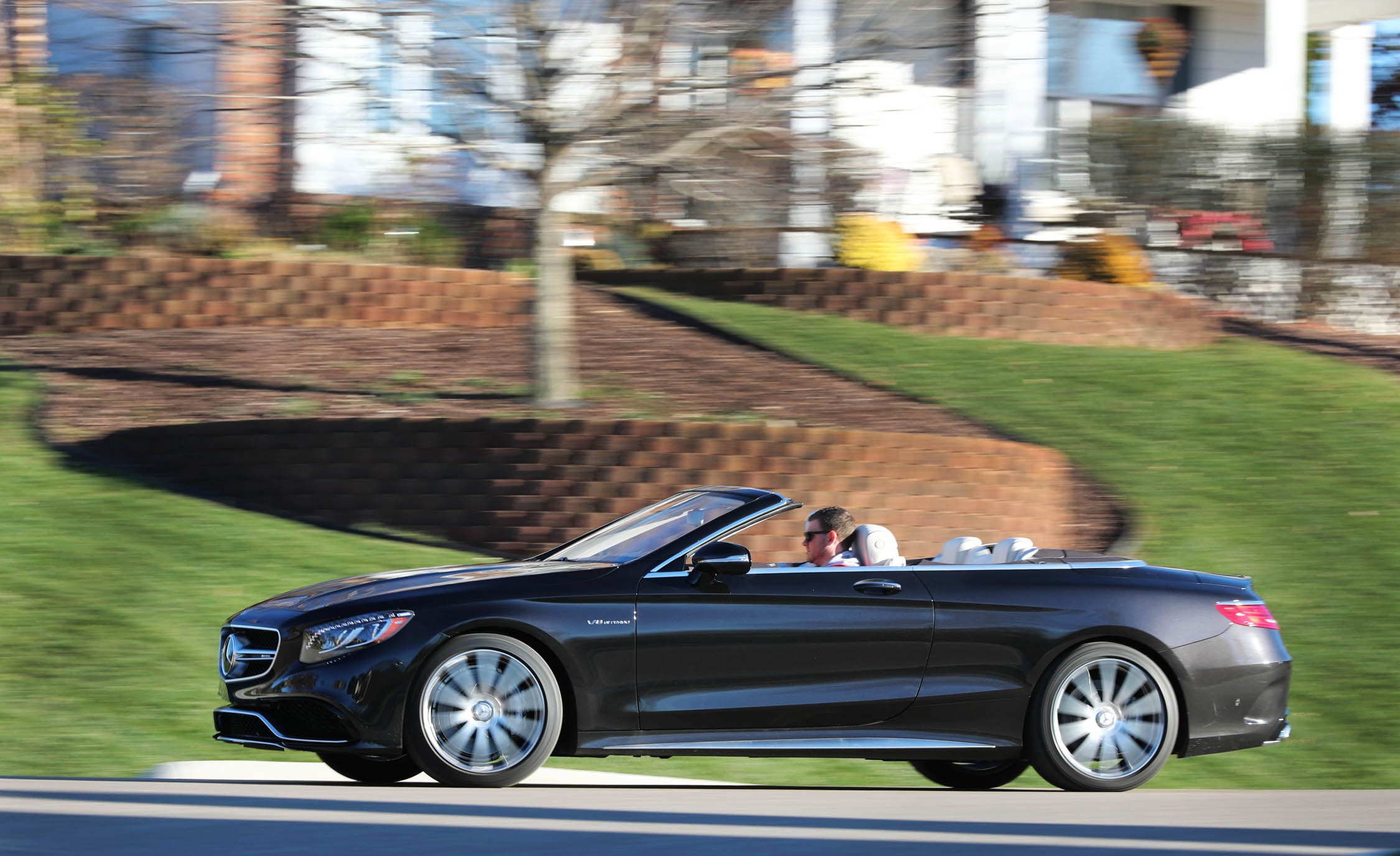 2017 Mercedes Amg S63 Cabriolet Test Drive Side View (Photo 36 of 38)