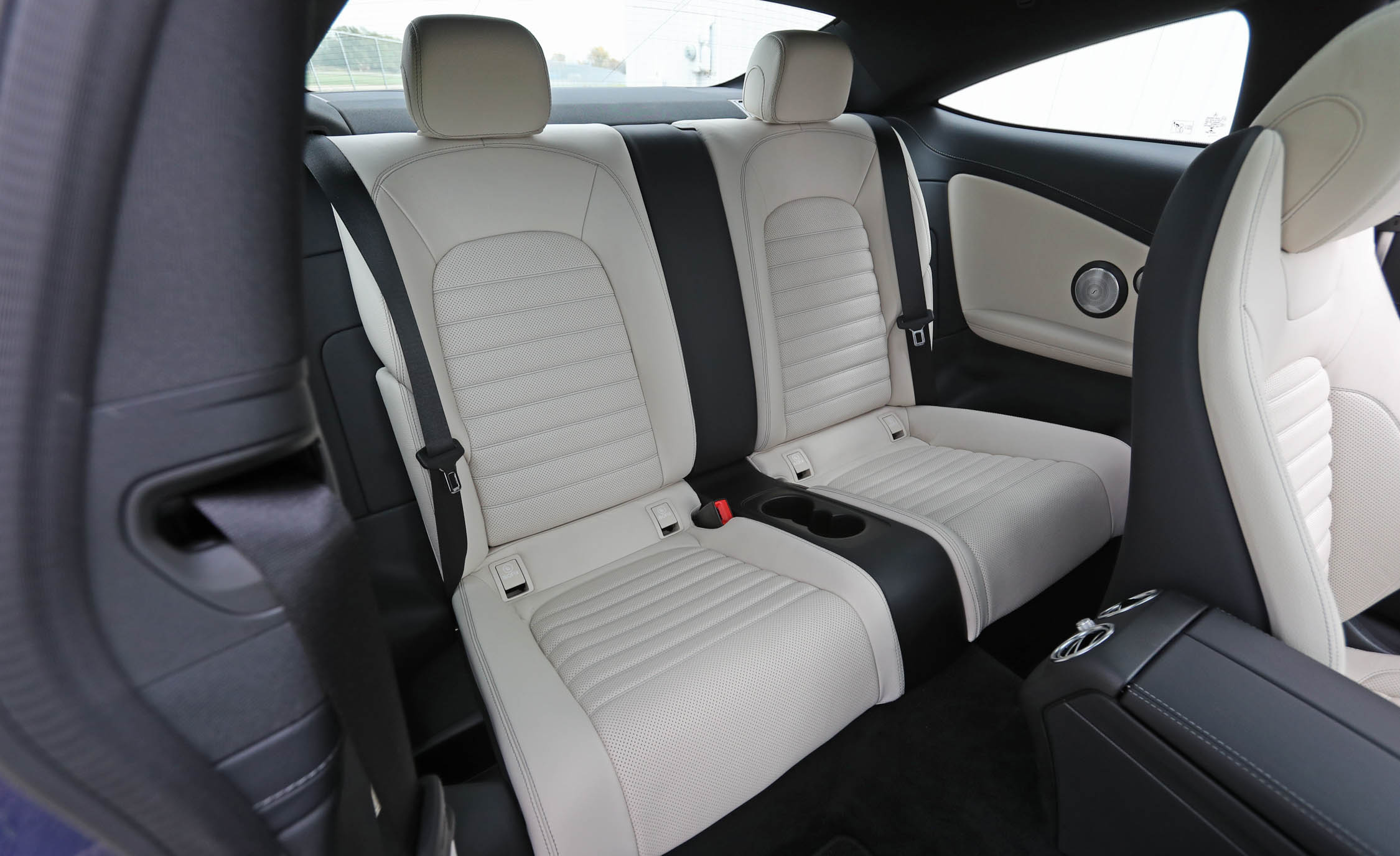 2017 Mercedes Benz C300 4MATIC Coupe Interior Seats Rear (View 12 of 44)