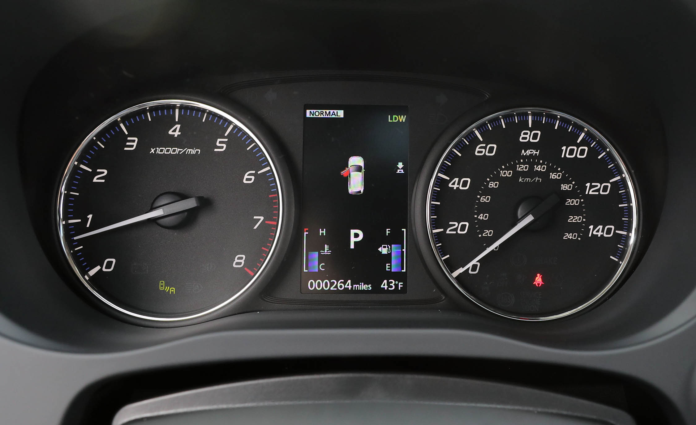 2017 Mitsubishi Outlander Gt Interior View Speedometer And Instrument Cluster (View 14 of 34)