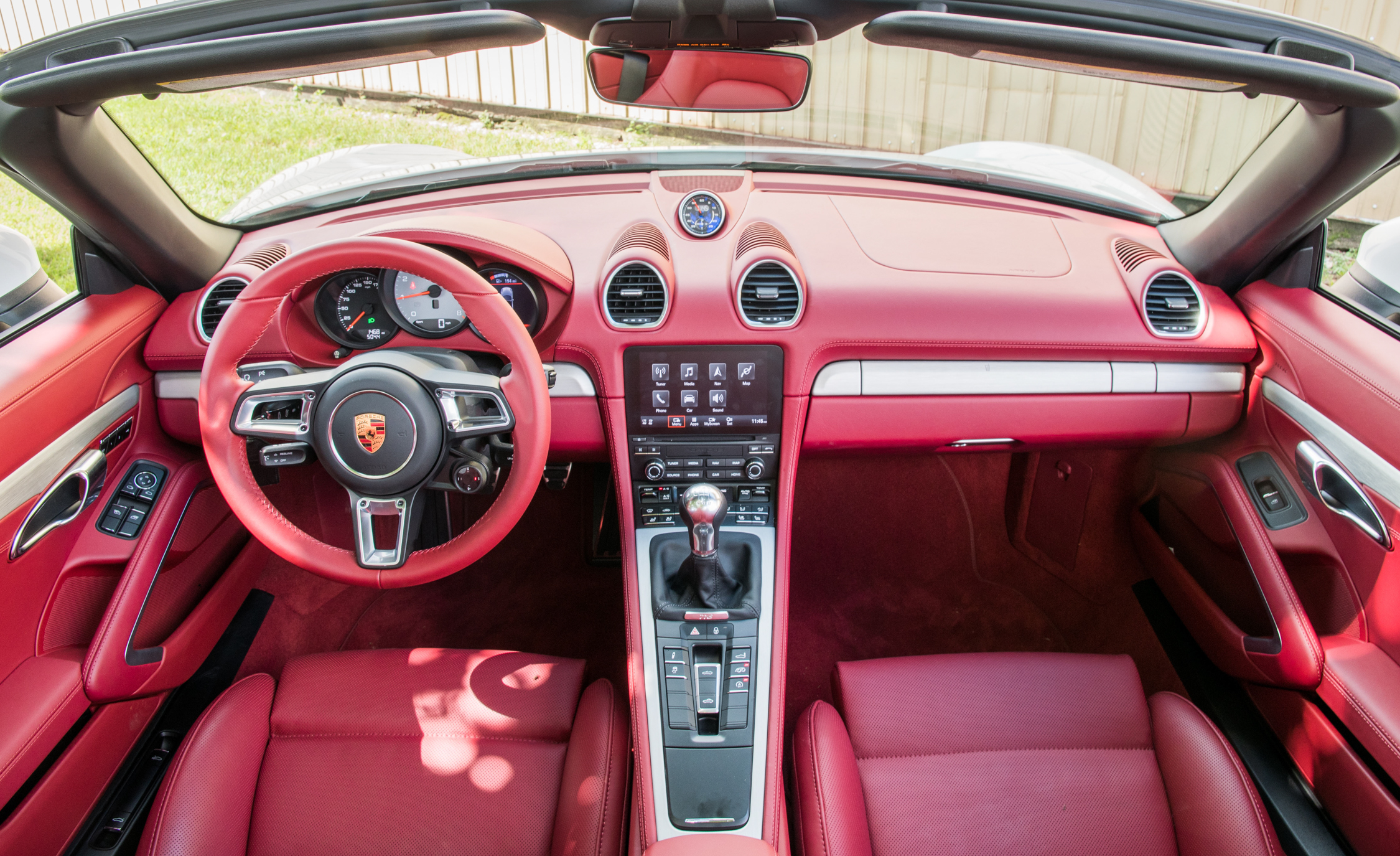 2017 Porsche 718 Boxster Interior Red Color (View 42 of 71)