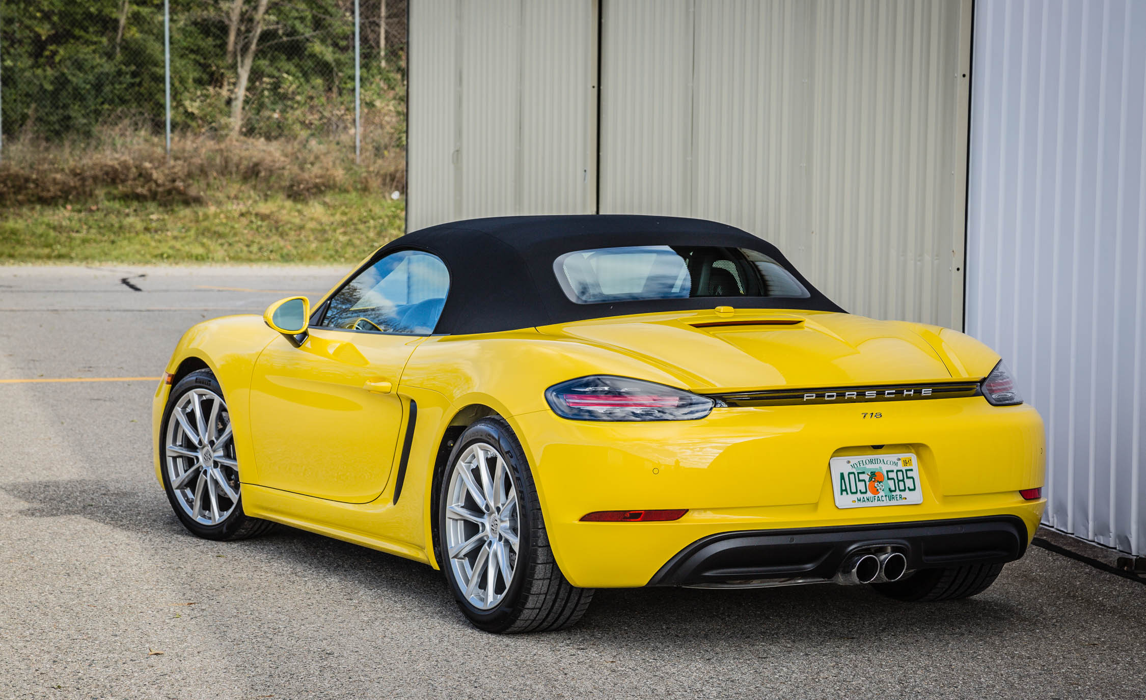 2017 Porsche 718 Boxster Exterior Rear And Side (View 17 of 71)