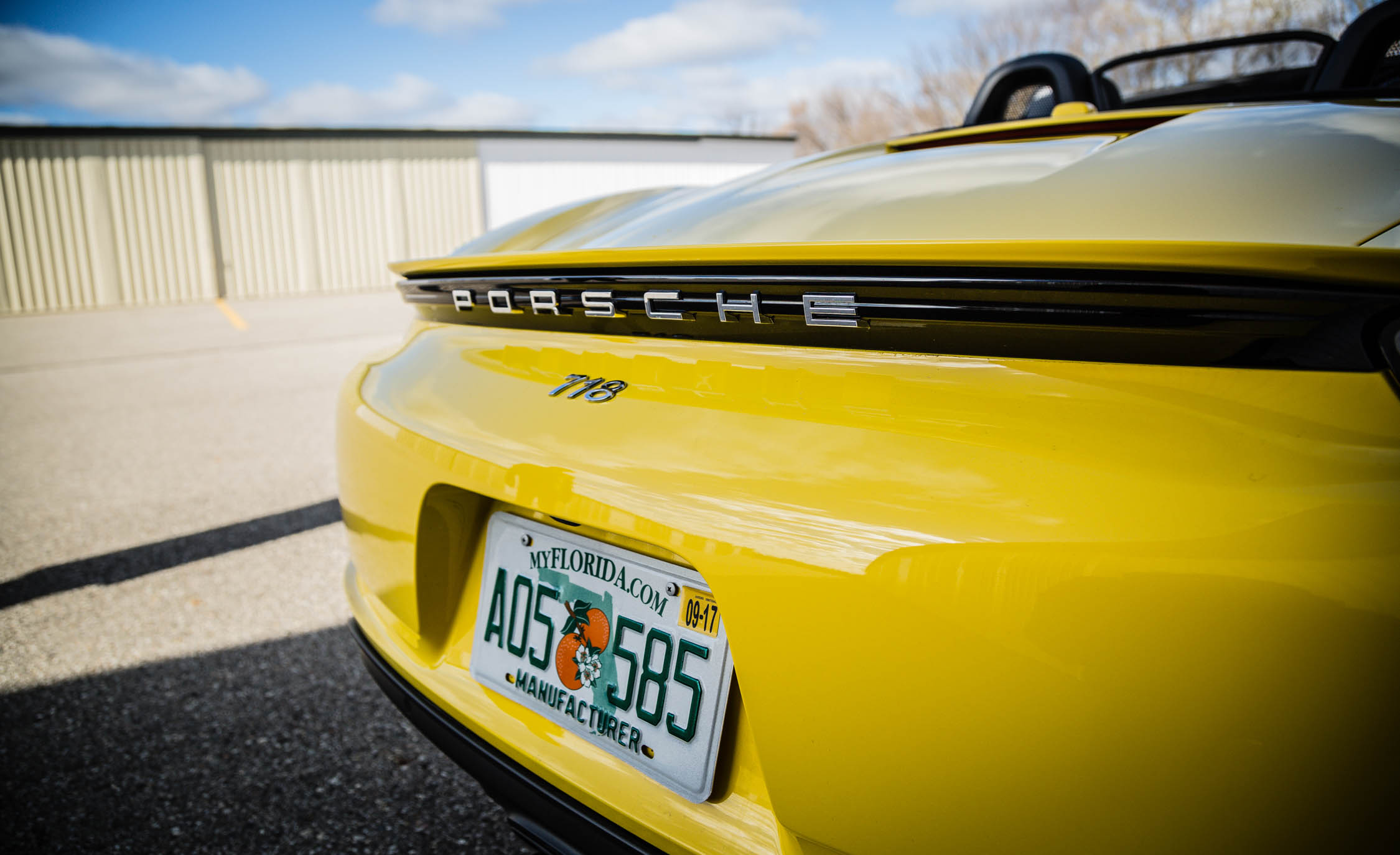 2017 Porsche 718 Boxster Exterior View Rear Emblem (Photo 37 of 71)