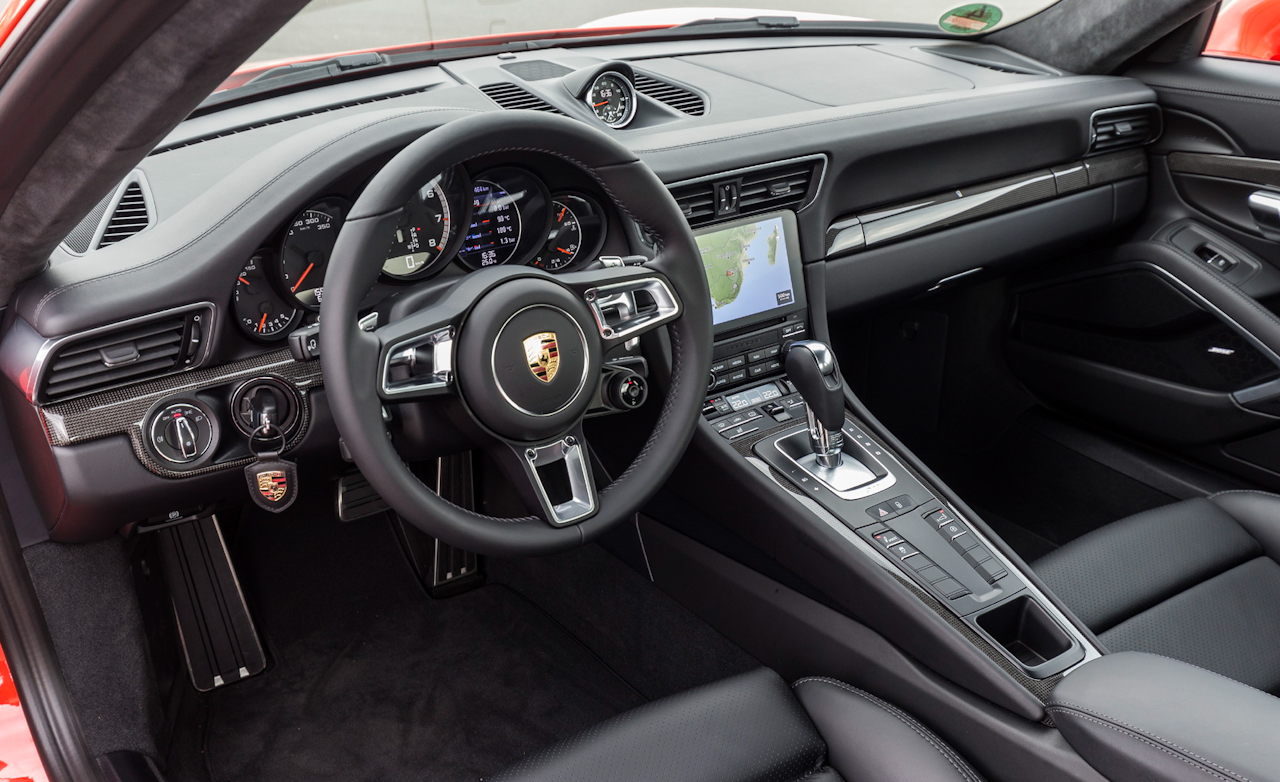 2017 Porsche 911 Turbo S Red Interior Driver Cockpit (Photo 21 of 58)
