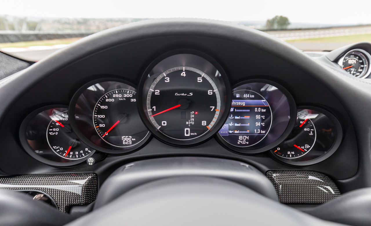 2017 Porsche 911 Turbo S Red Interior View Speedometer Instrument Cluster (Photo 24 of 58)