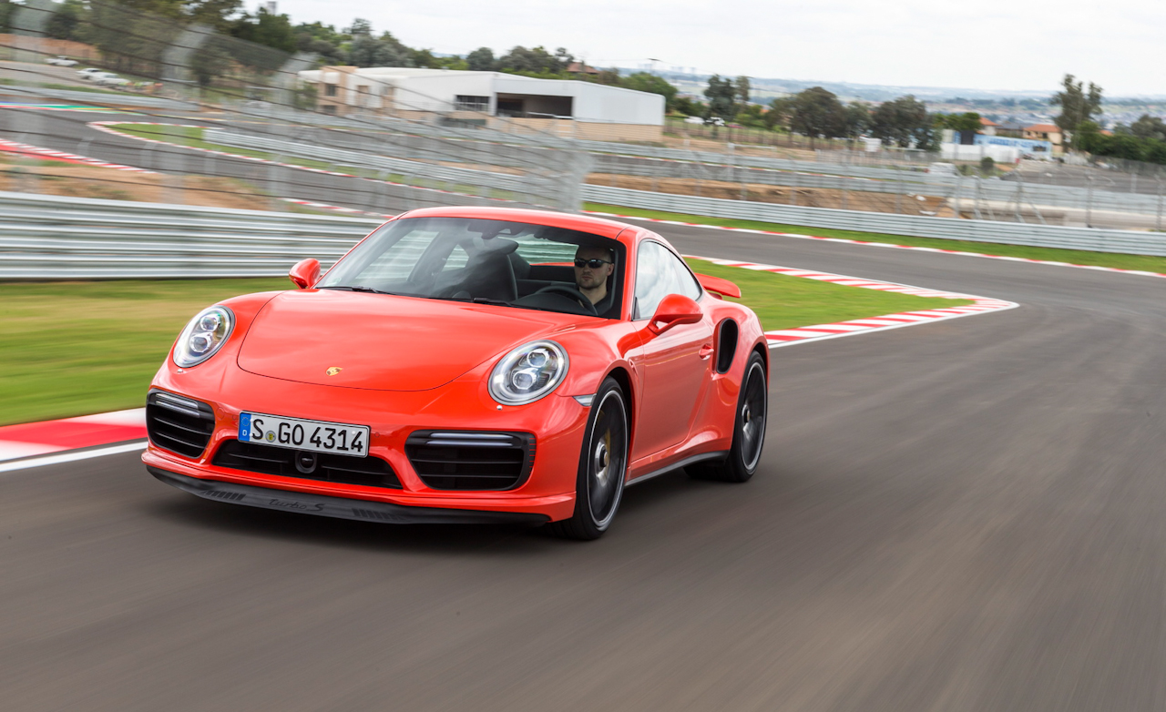 2017 Porsche 911 Turbo S Red Test Drive (Photo 25 of 58)