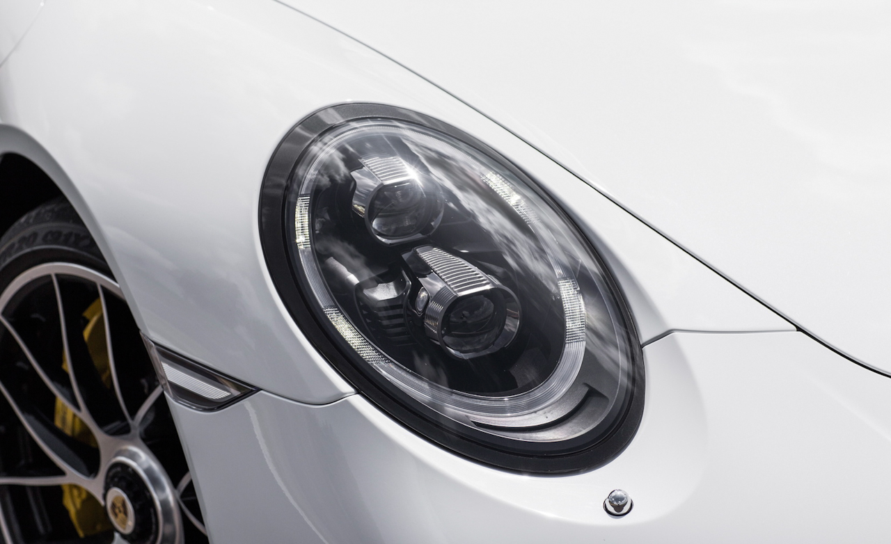 2017 Porsche 911 Turbo S White Exterior View Headlight (Photo 34 of 58)