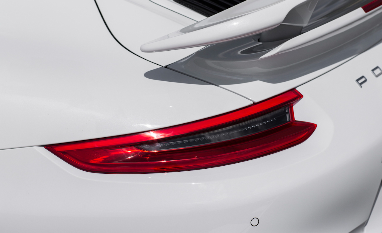 2017 Porsche 911 Turbo S White Exterior View Taillight (Photo 35 of 58)