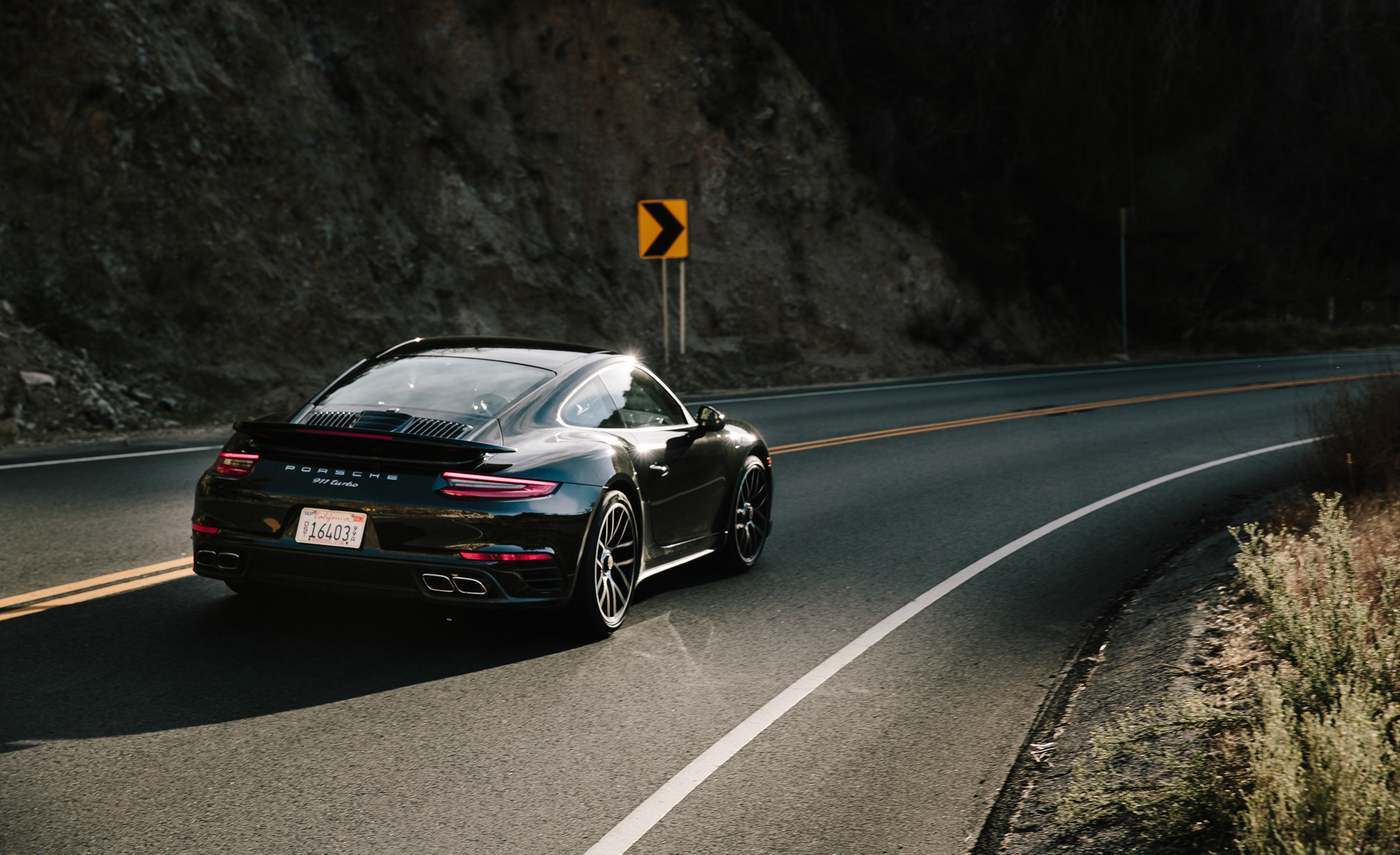 2017 Porsche 911 Turbo Test Drive Rear And Side (Photo 42 of 58)