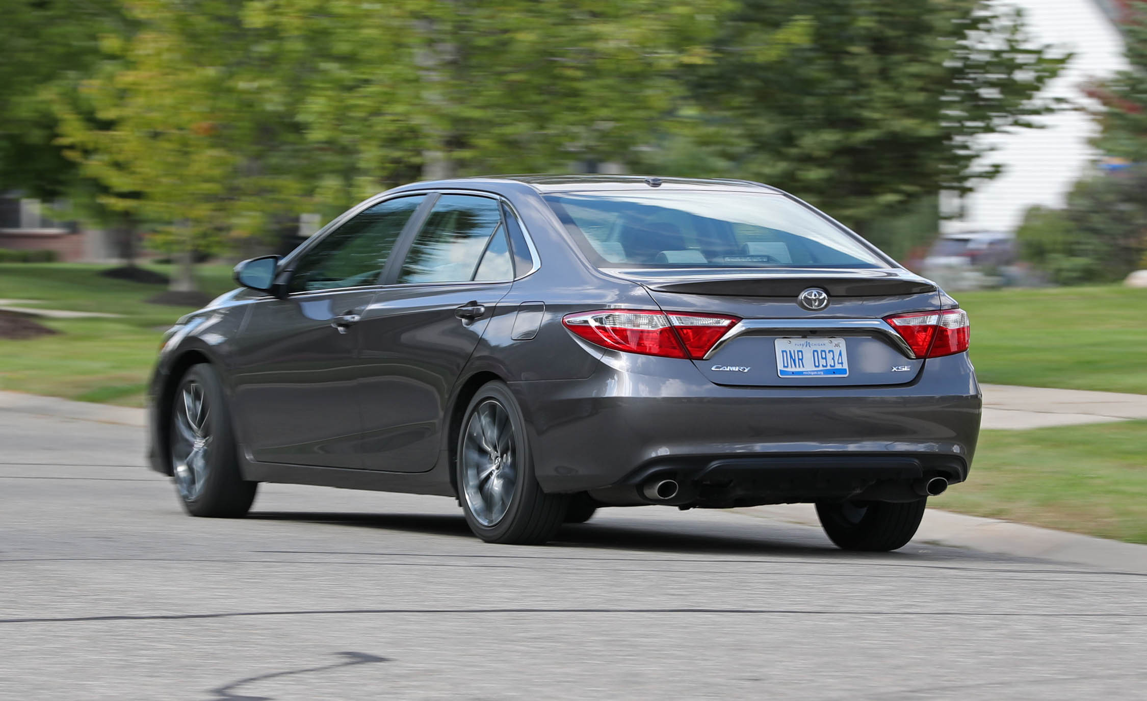 2017 Toyota Camry Test Drive Rear And Side Preview (Photo 31 of 37)