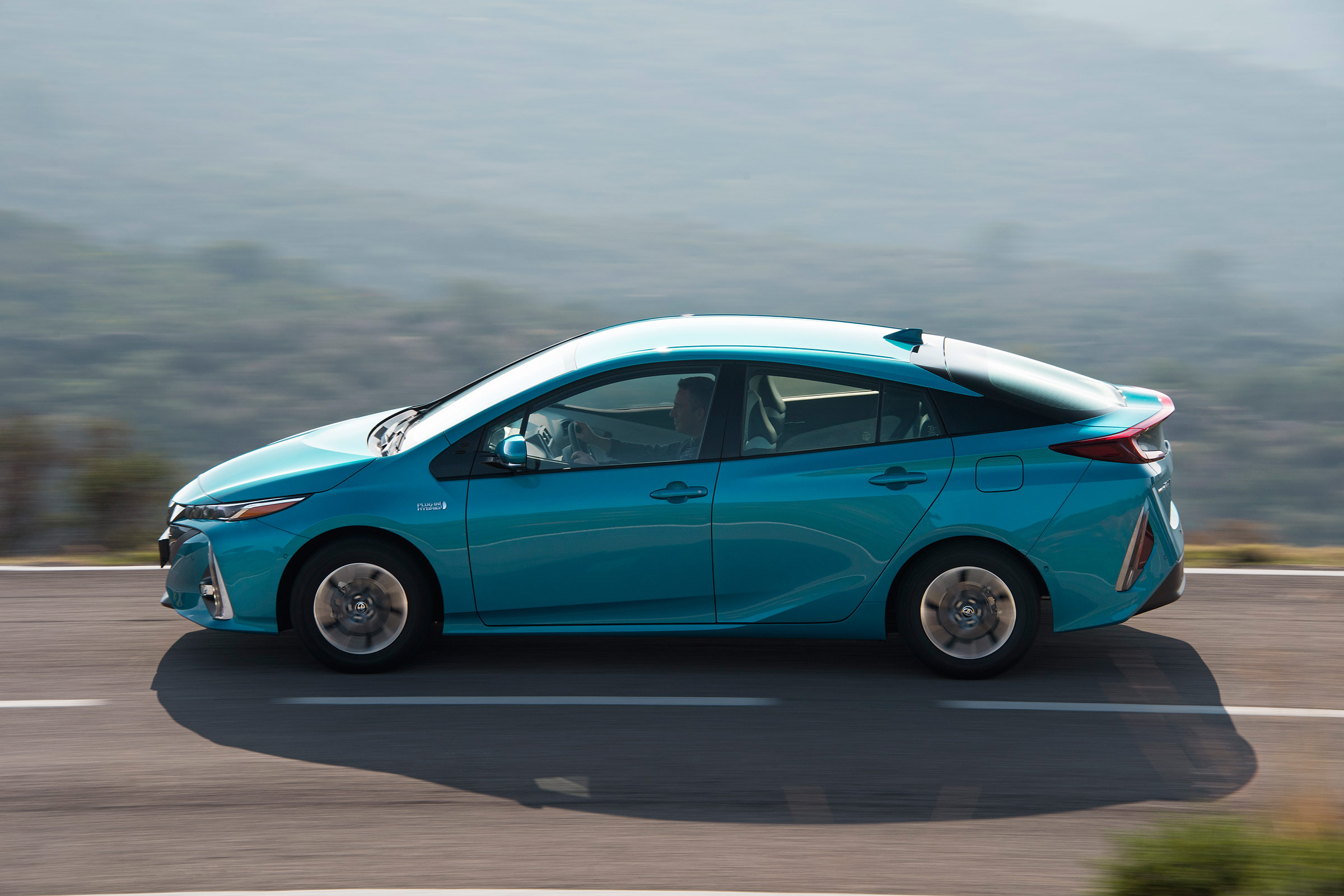 2017 Toyota Prius Blue Test Drive Side View (Photo 13 of 64)