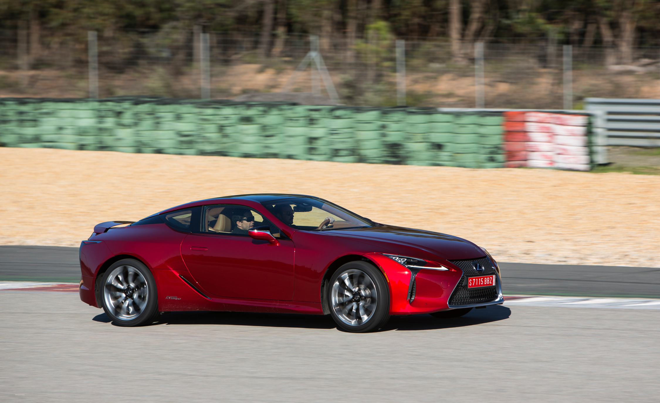 2018 Lexus Lc 500 Red Test Drive Front And Side View (Photo 23 of 84)