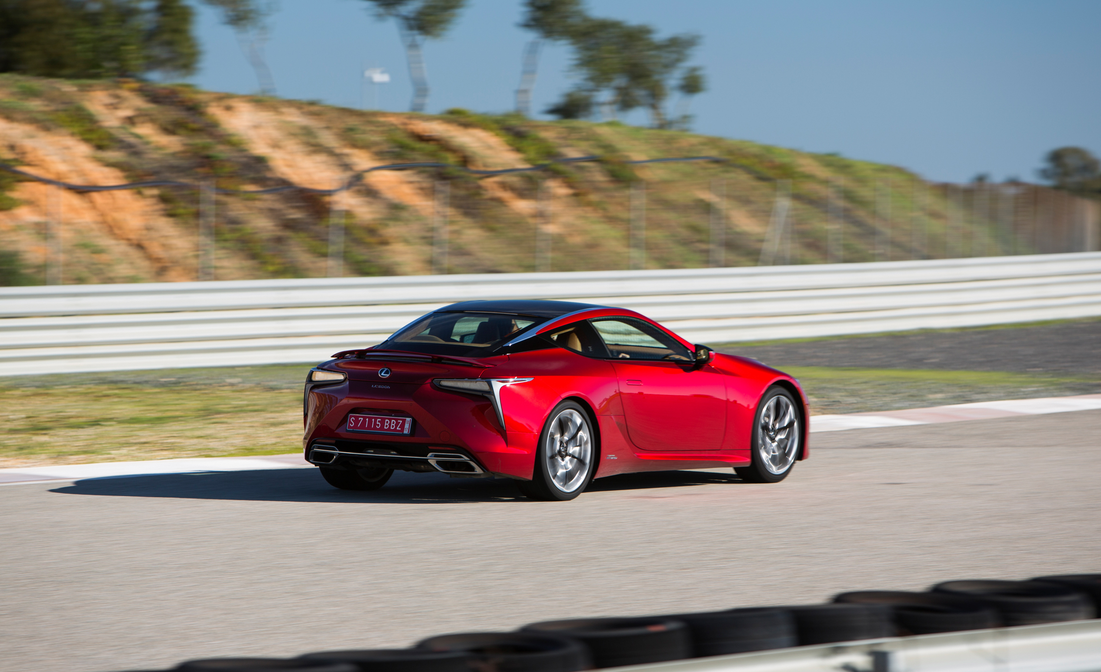 2018 Lexus Lc 500 Red Test Drive Rear And Side View (Photo 24 of 84)
