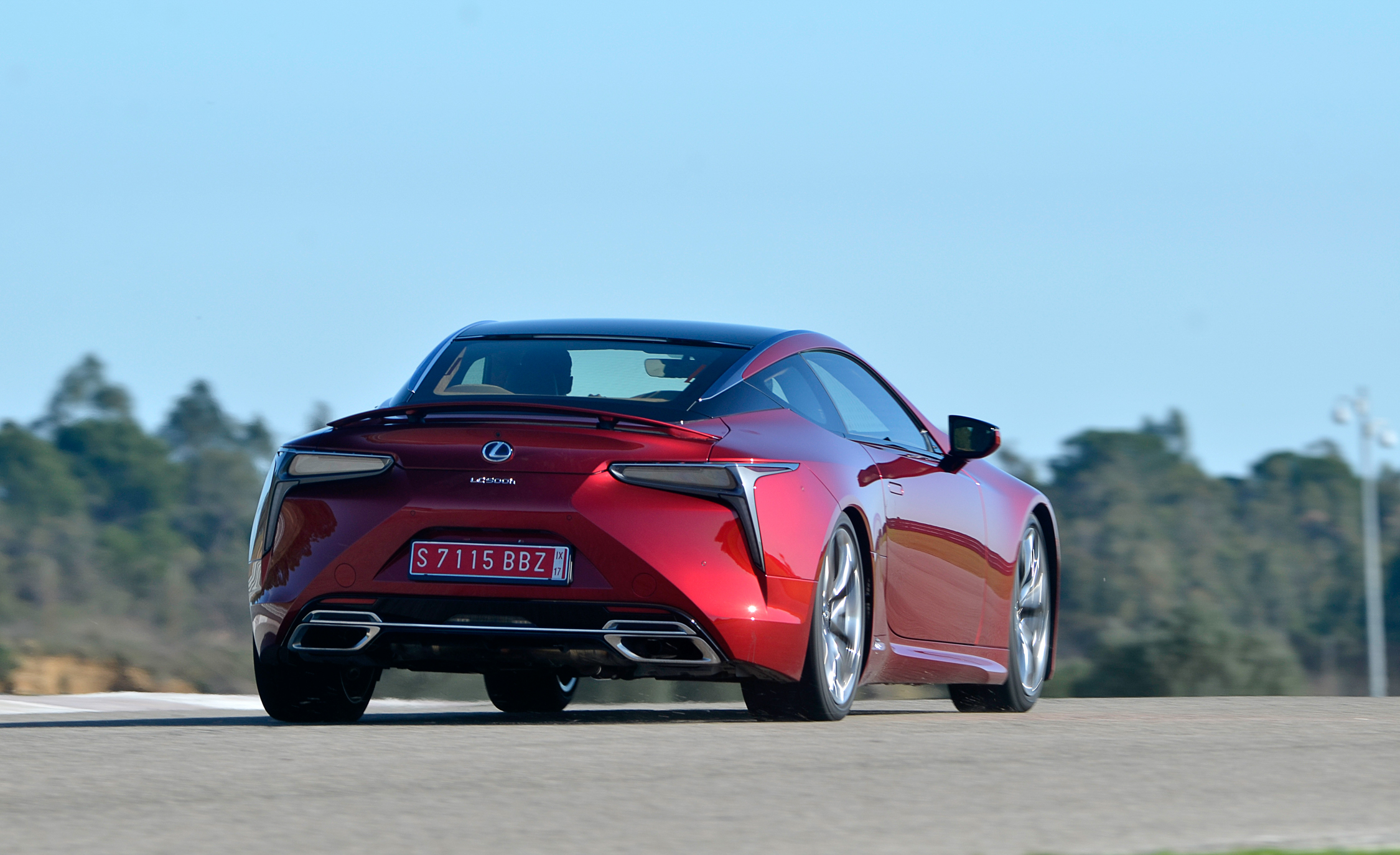 2018 Lexus Lc 500 Red Test Drive Rear View (Photo 26 of 84)