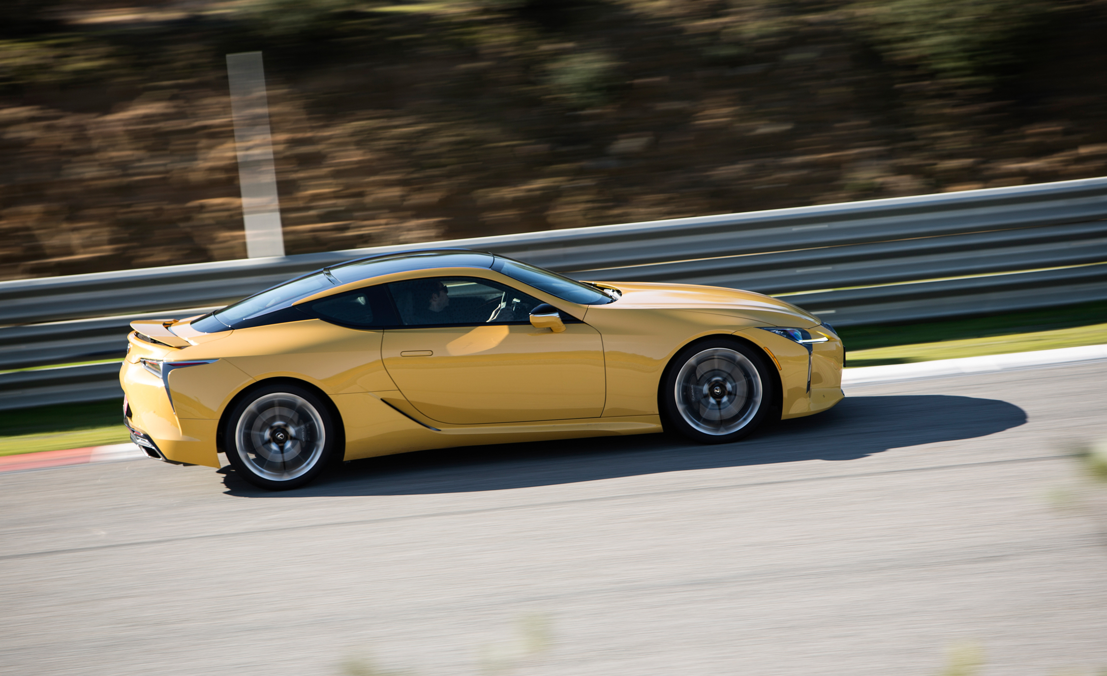 2018 Lexus Lc 500 Yellow Test Drive Side Corner (Photo 35 of 84)