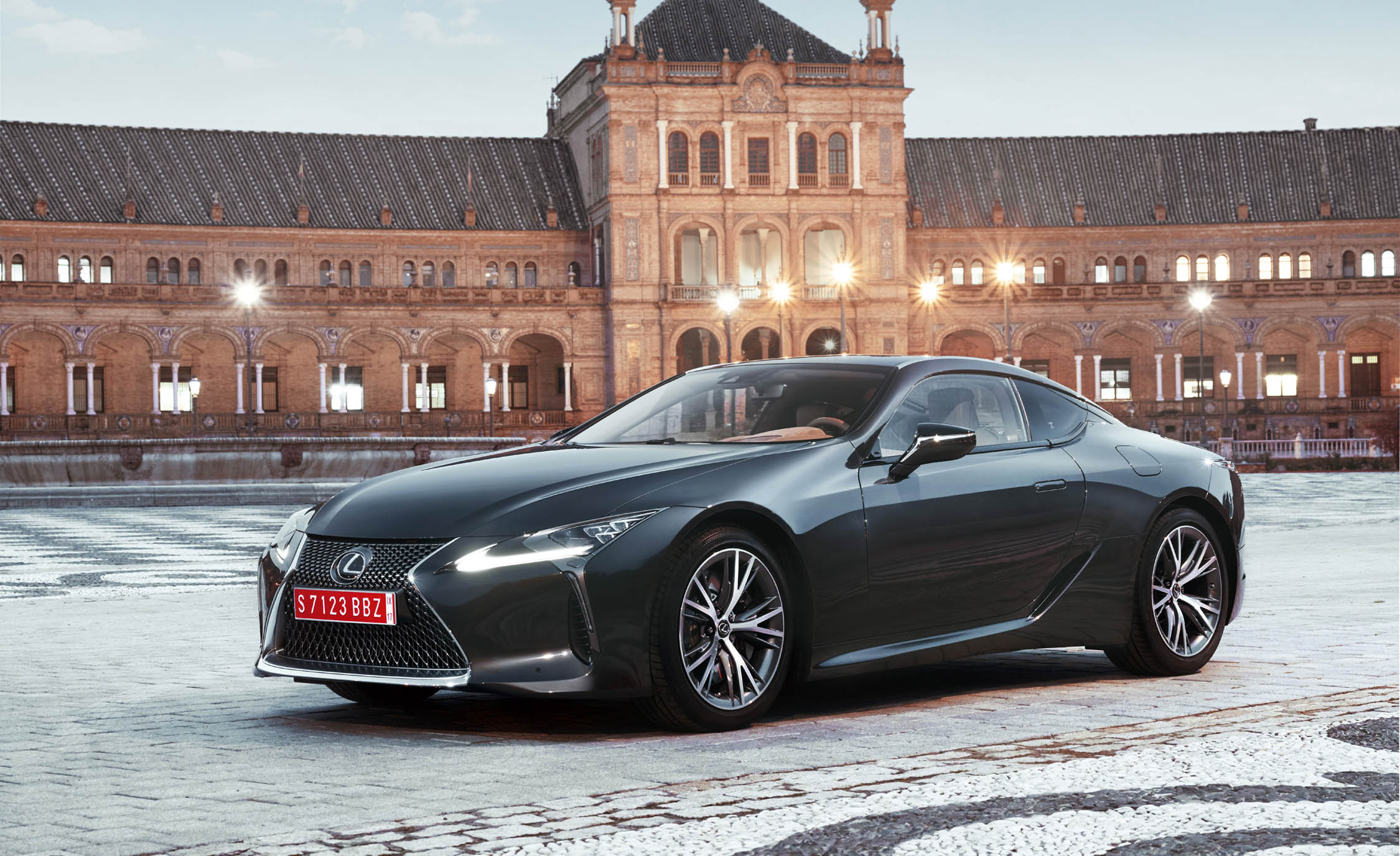 2018 Lexus Lc 500 Black Exterior Side And Front (Photo 6 of 84)