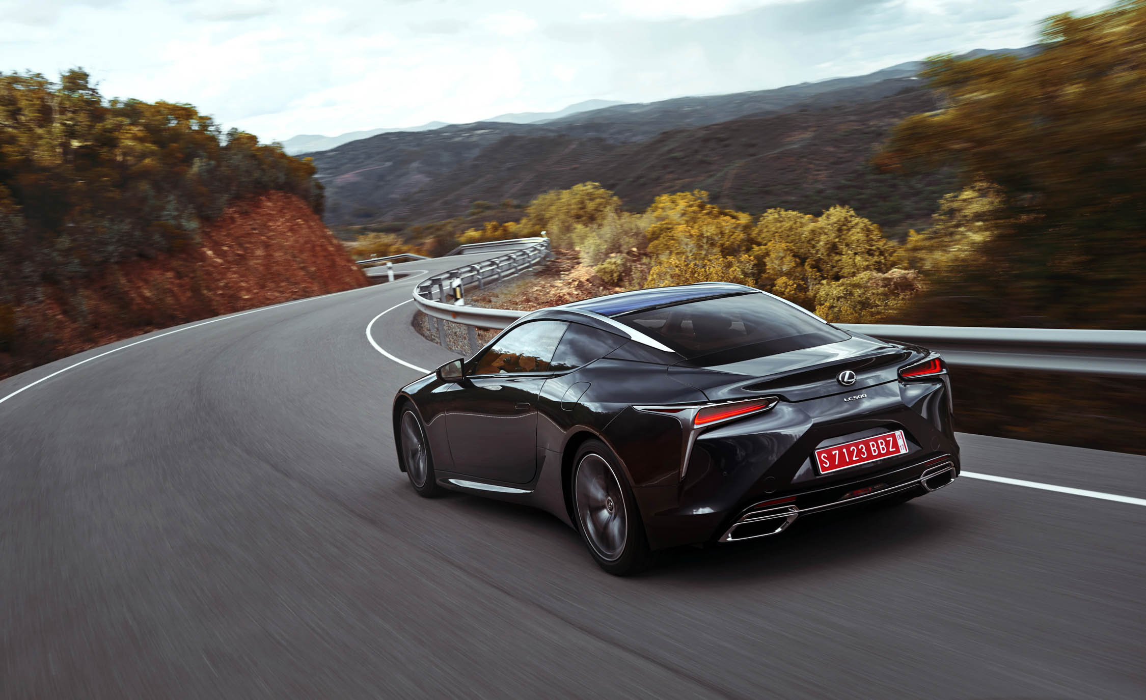 2018 Lexus Lc 500 Black Test Drive Rear Corner (Photo 12 of 84)