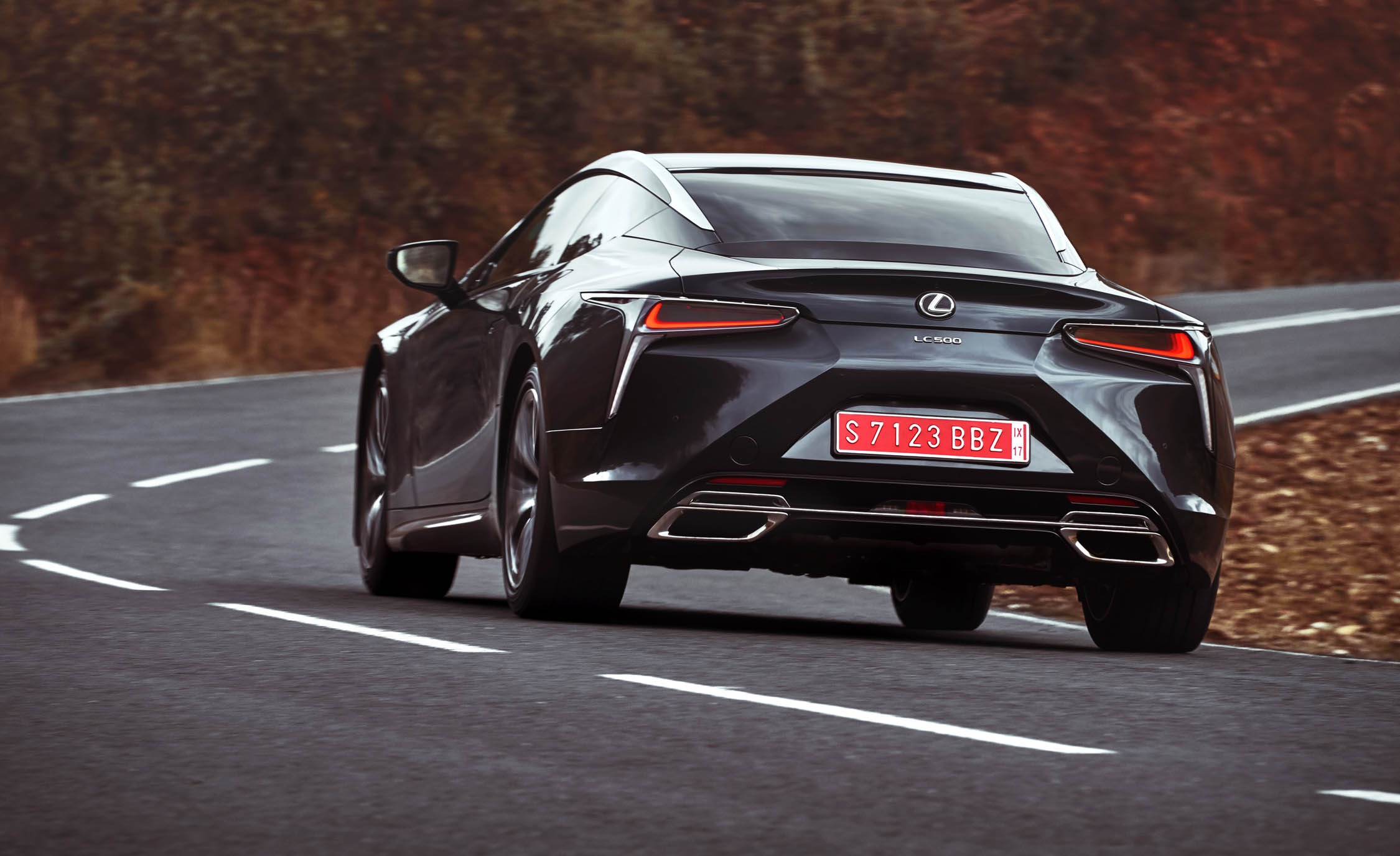 2018 Lexus Lc 500 Black Test Drive Rear (Photo 11 of 84)
