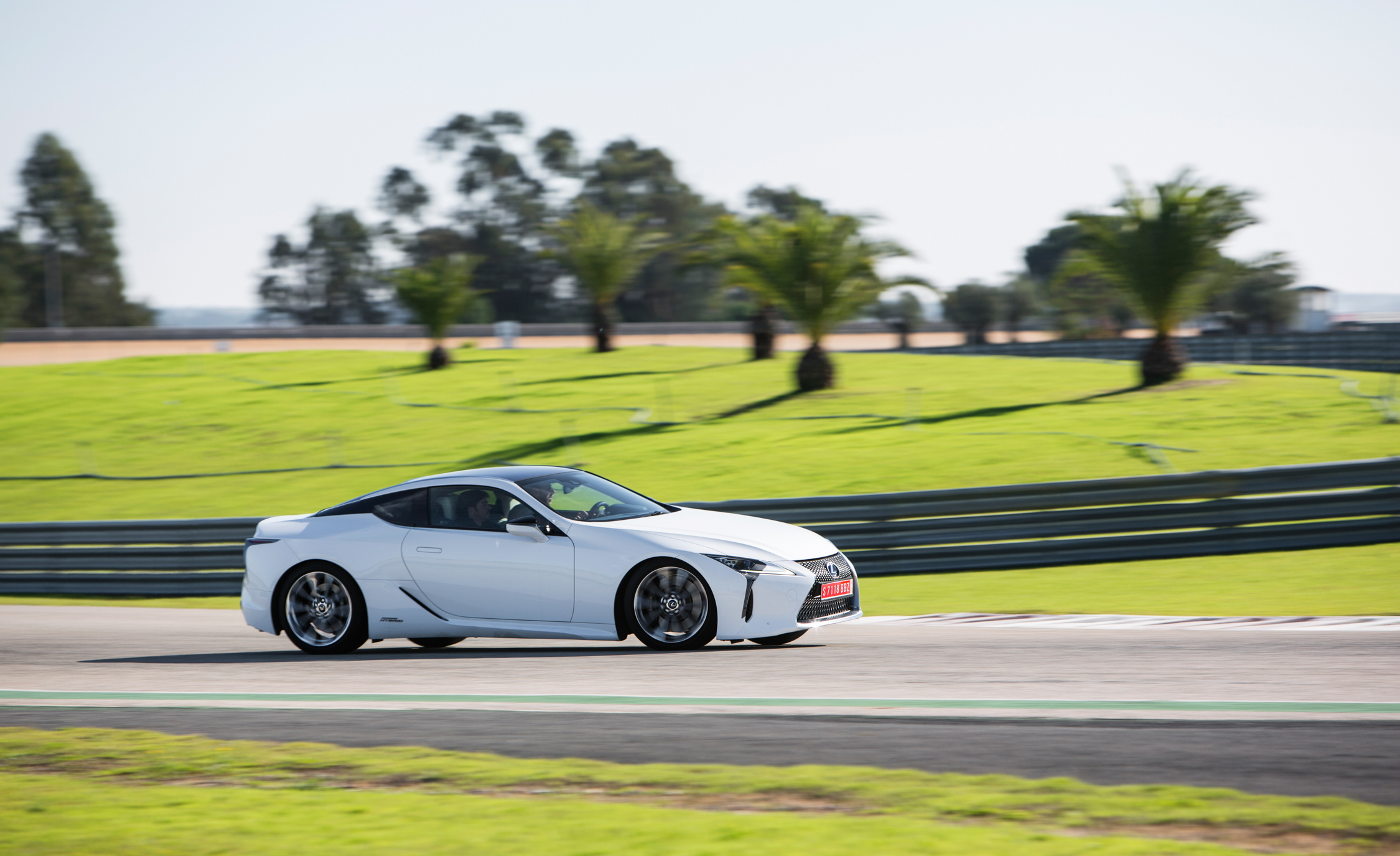 2018 Lexus Lc 500h White Test Drive Side View (Photo 69 of 84)