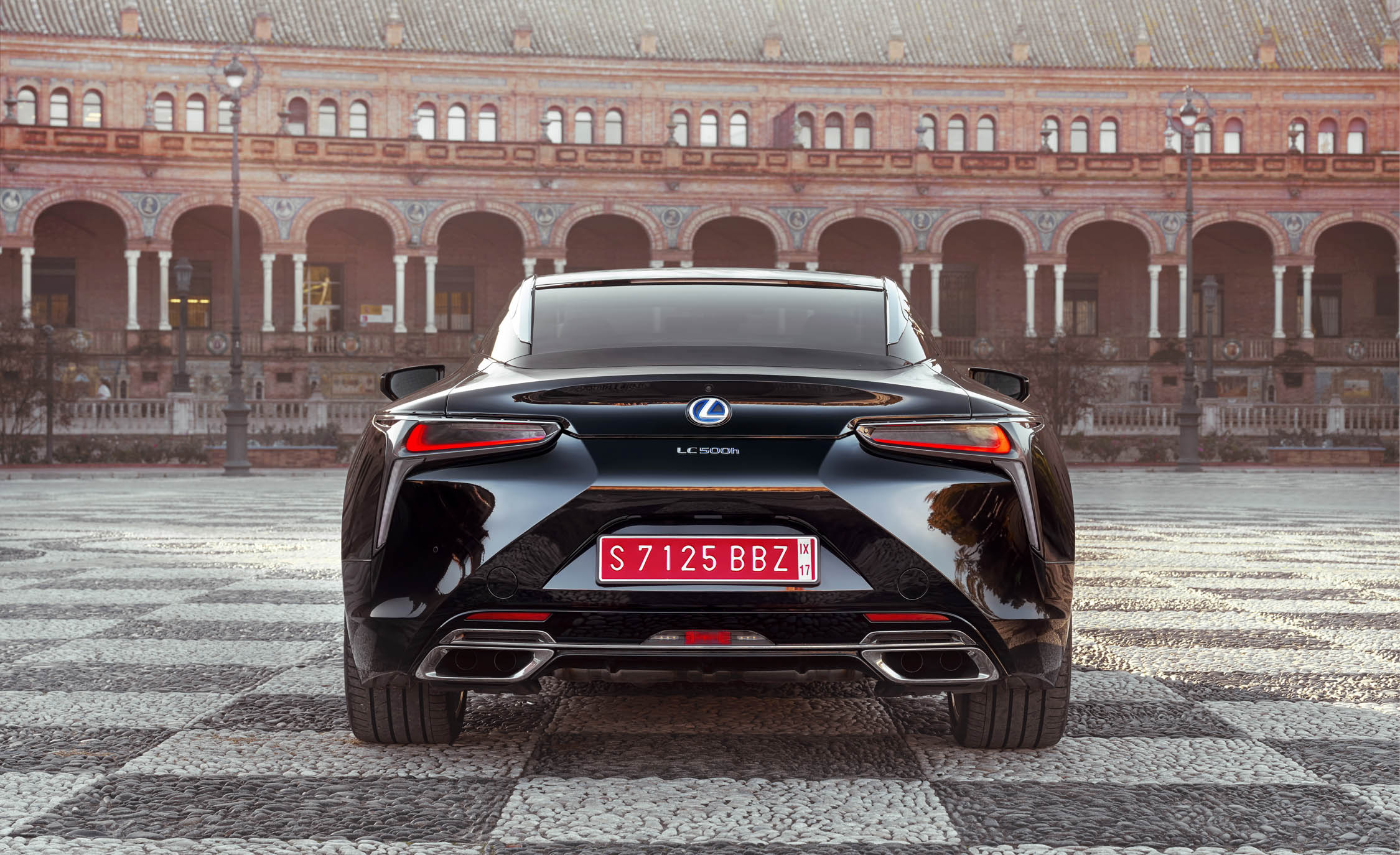 2018 Lexus Lc 500h Black Exterior Rear (View 58 of 84)