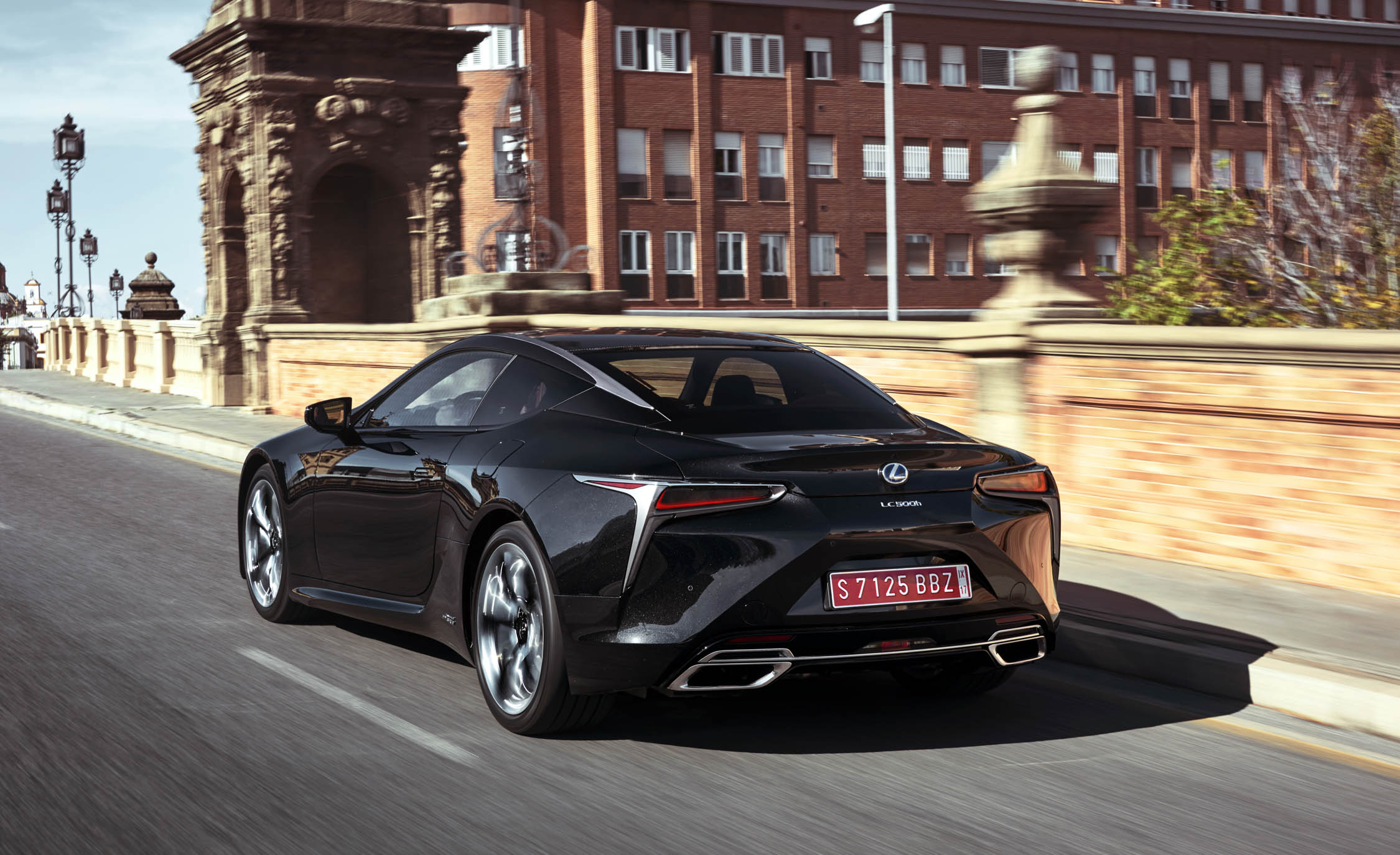 2018 Lexus Lc 500h Black Rear And Side View (View 47 of 84)