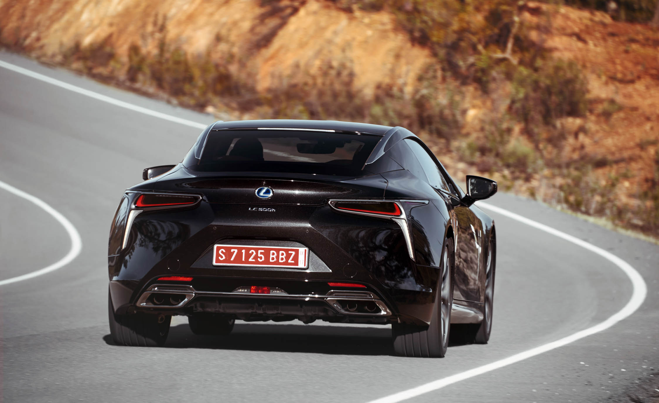 2018 Lexus Lc 500h Black Rear View (Photo 49 of 84)