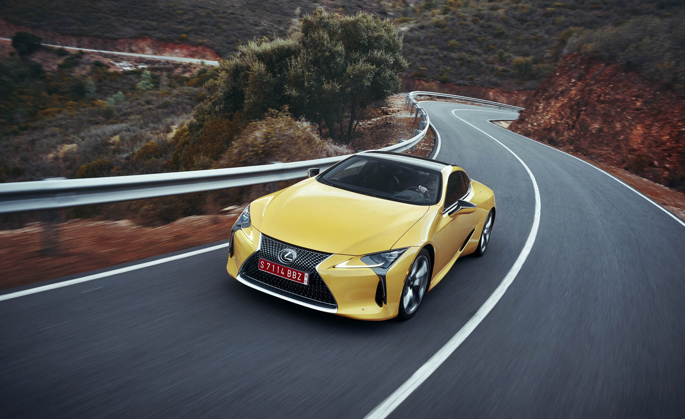 2018 Lexus Lc500 Yellow Test Drive Front And Side (Photo 72 of 84)