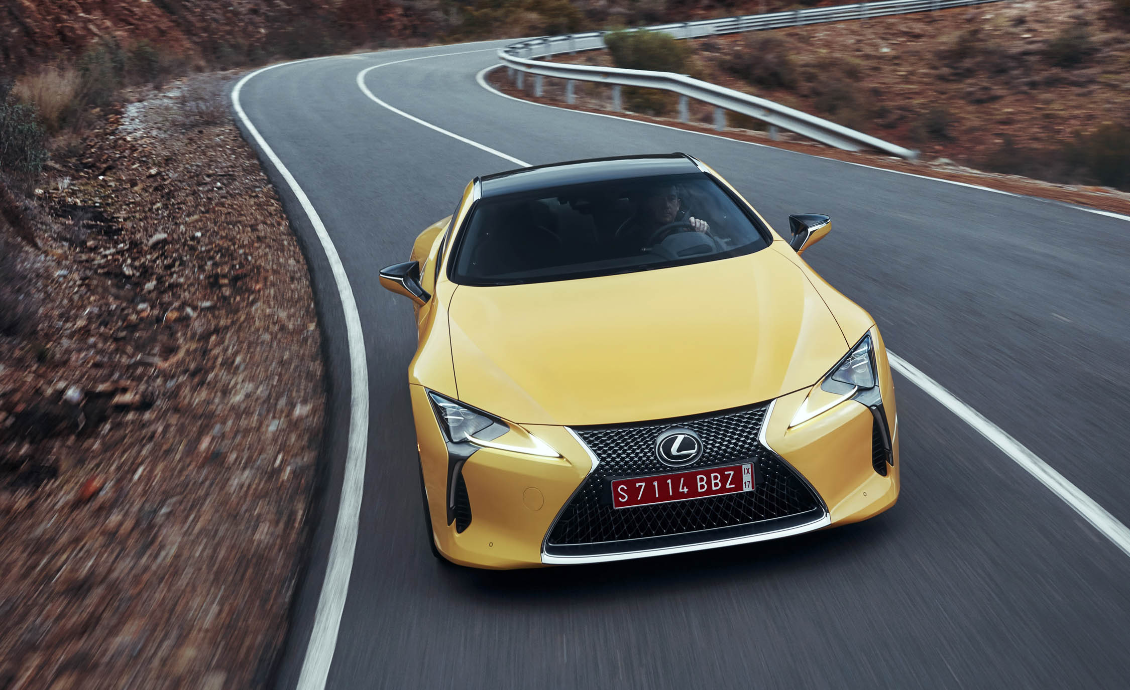 2018 Lexus Lc500 Yellow Test Drive Front View (Photo 75 of 84)